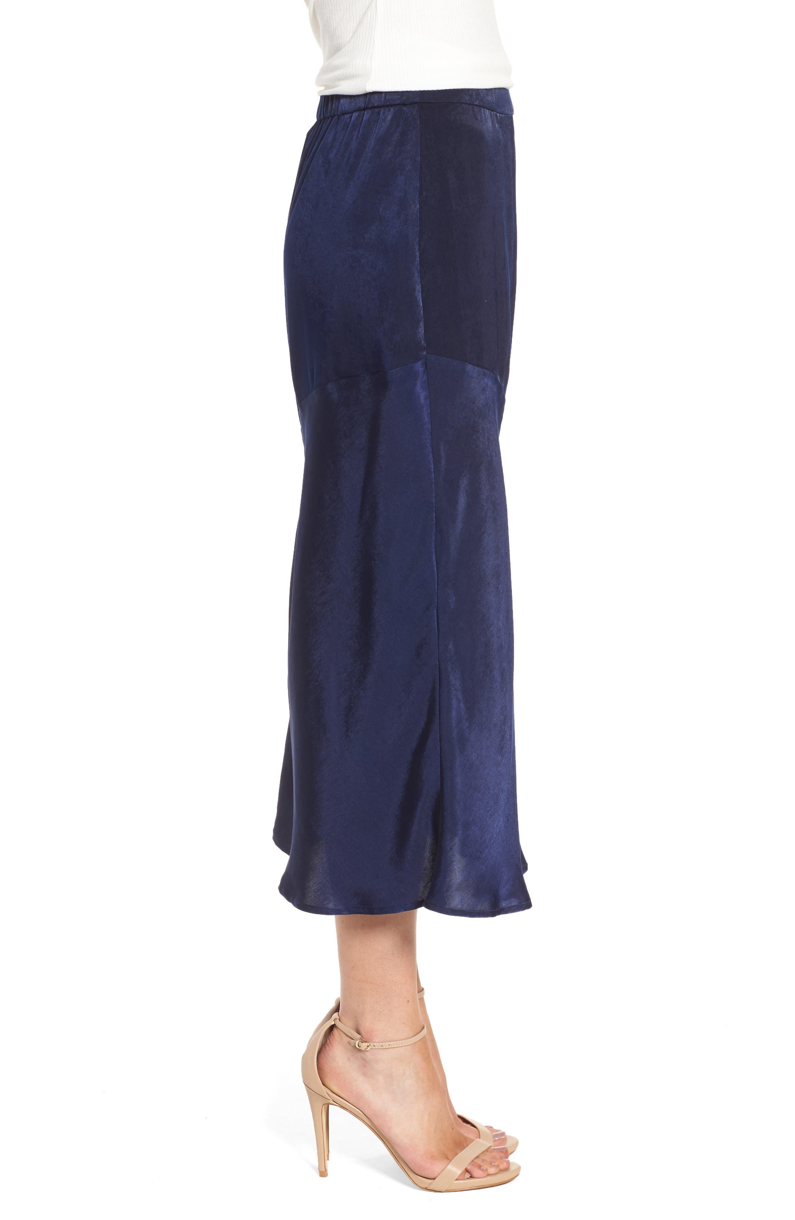 BP Satin Midi Skirt,                             Alternate thumbnail 3, color,                             410