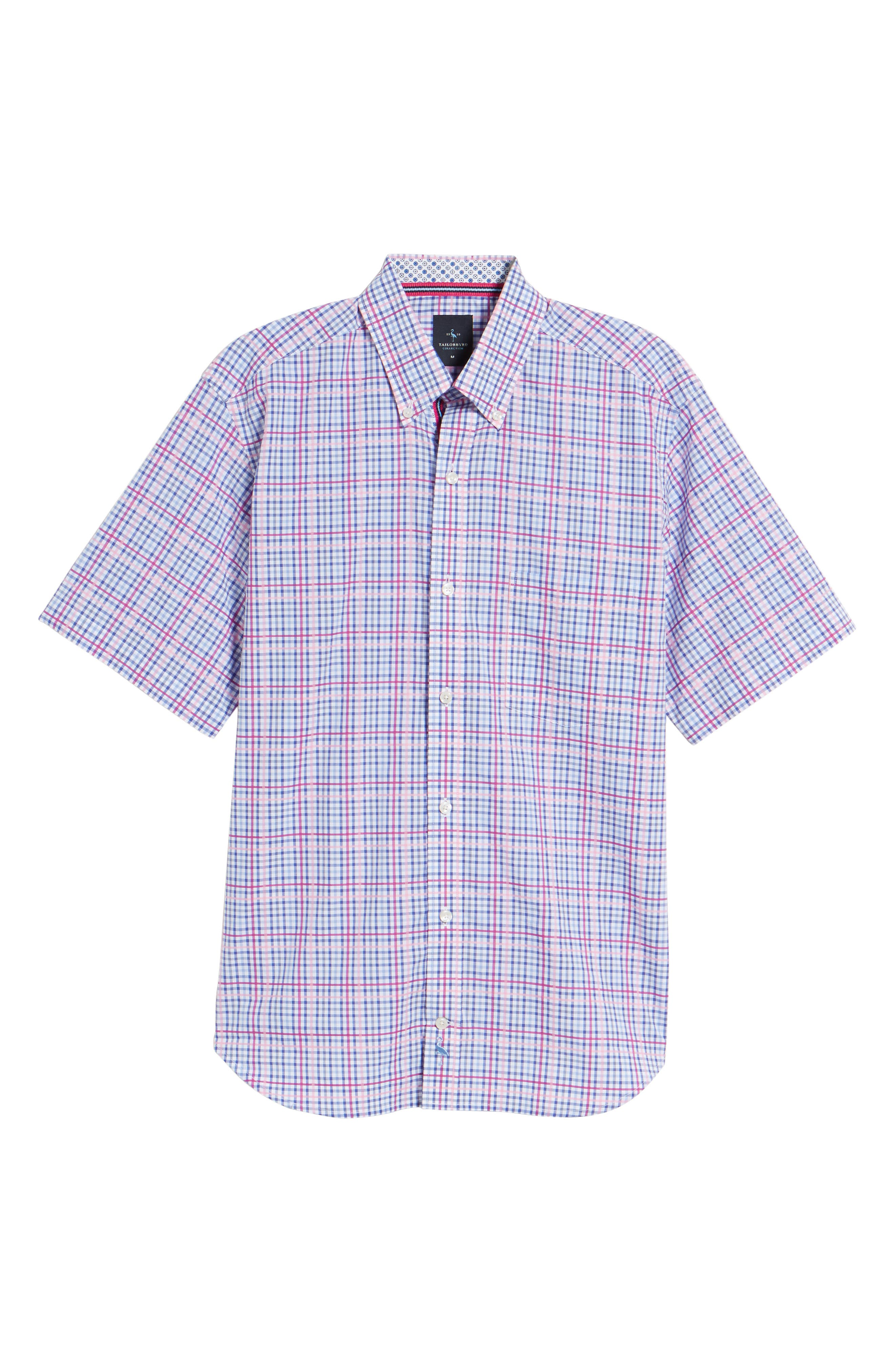 Ale Regular Fit Check Sport Shirt,                             Alternate thumbnail 6, color,                             650