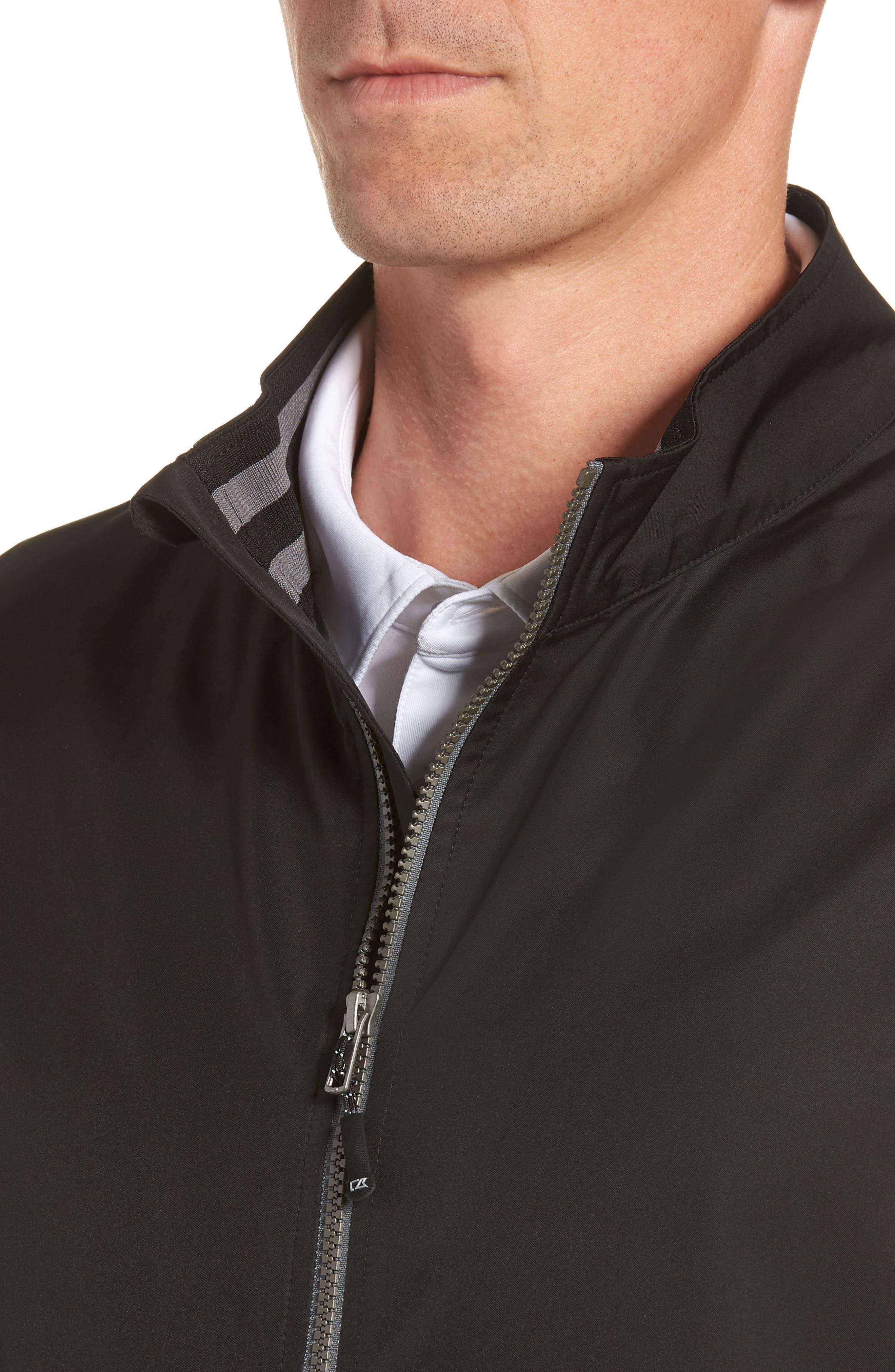 Nine Iron DryTec Zip Vest,                             Alternate thumbnail 4, color,                             BLACK