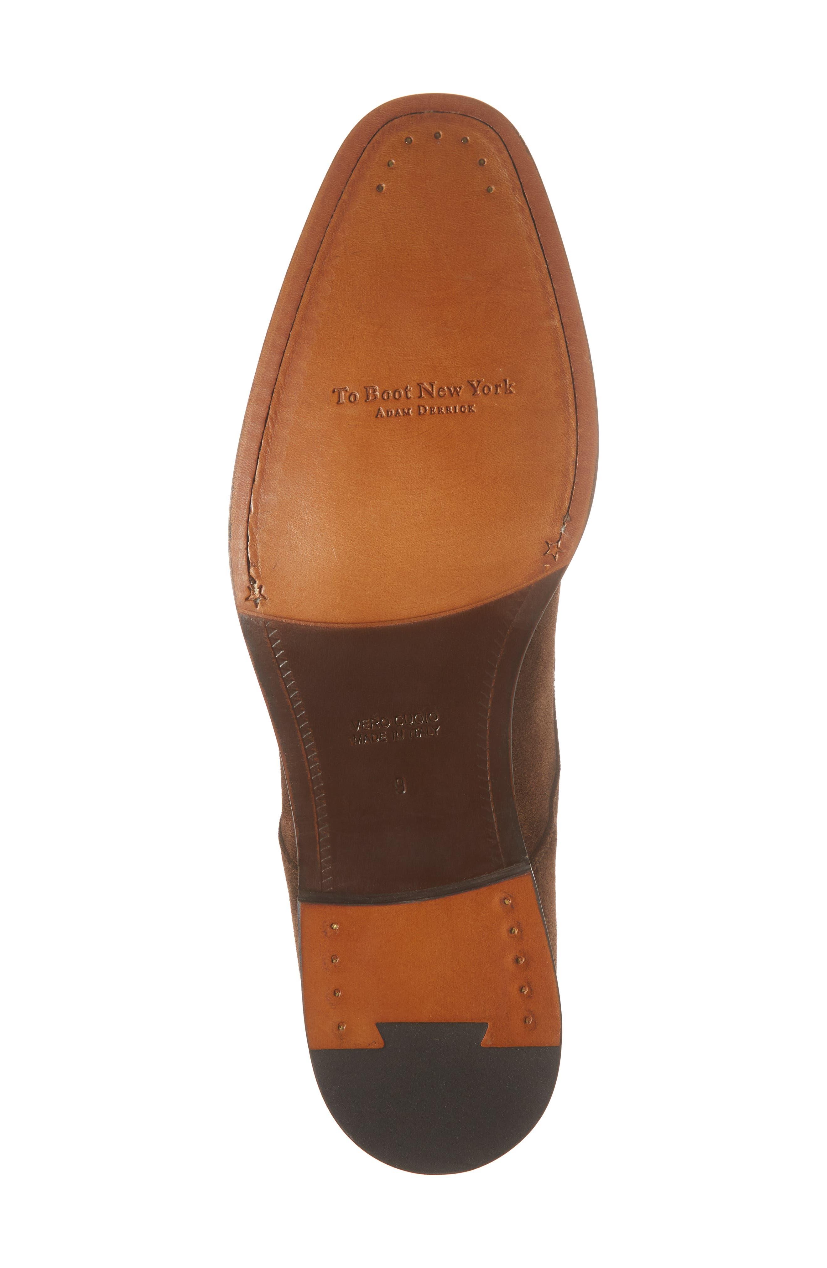 Quentin Cap Toe Monk Shoe,                             Alternate thumbnail 6, color,                             BROWN SUEDE LEATHER