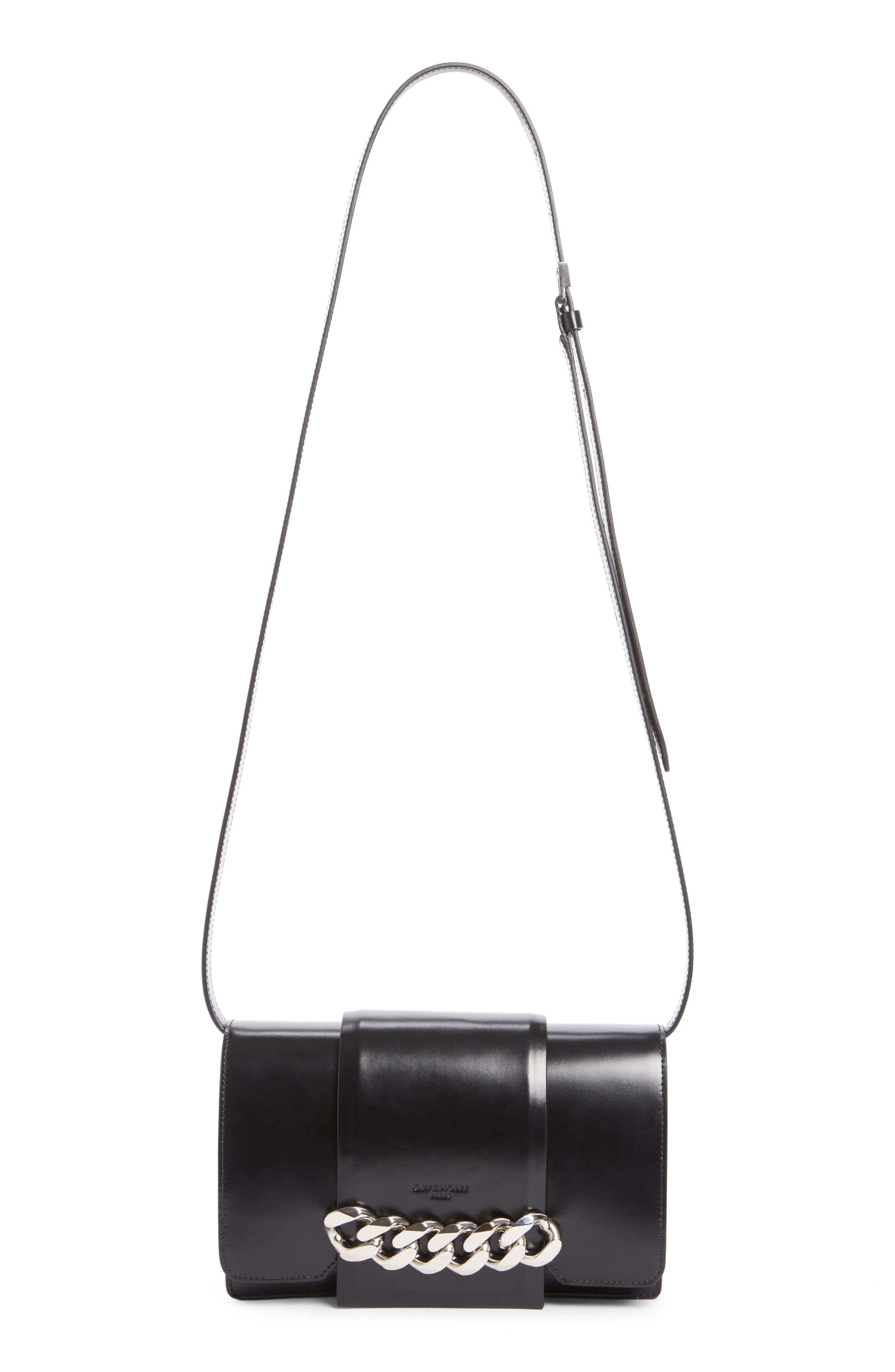 Small Infinity Calfskin Leather Shoulder Bag,                             Main thumbnail 2, color,