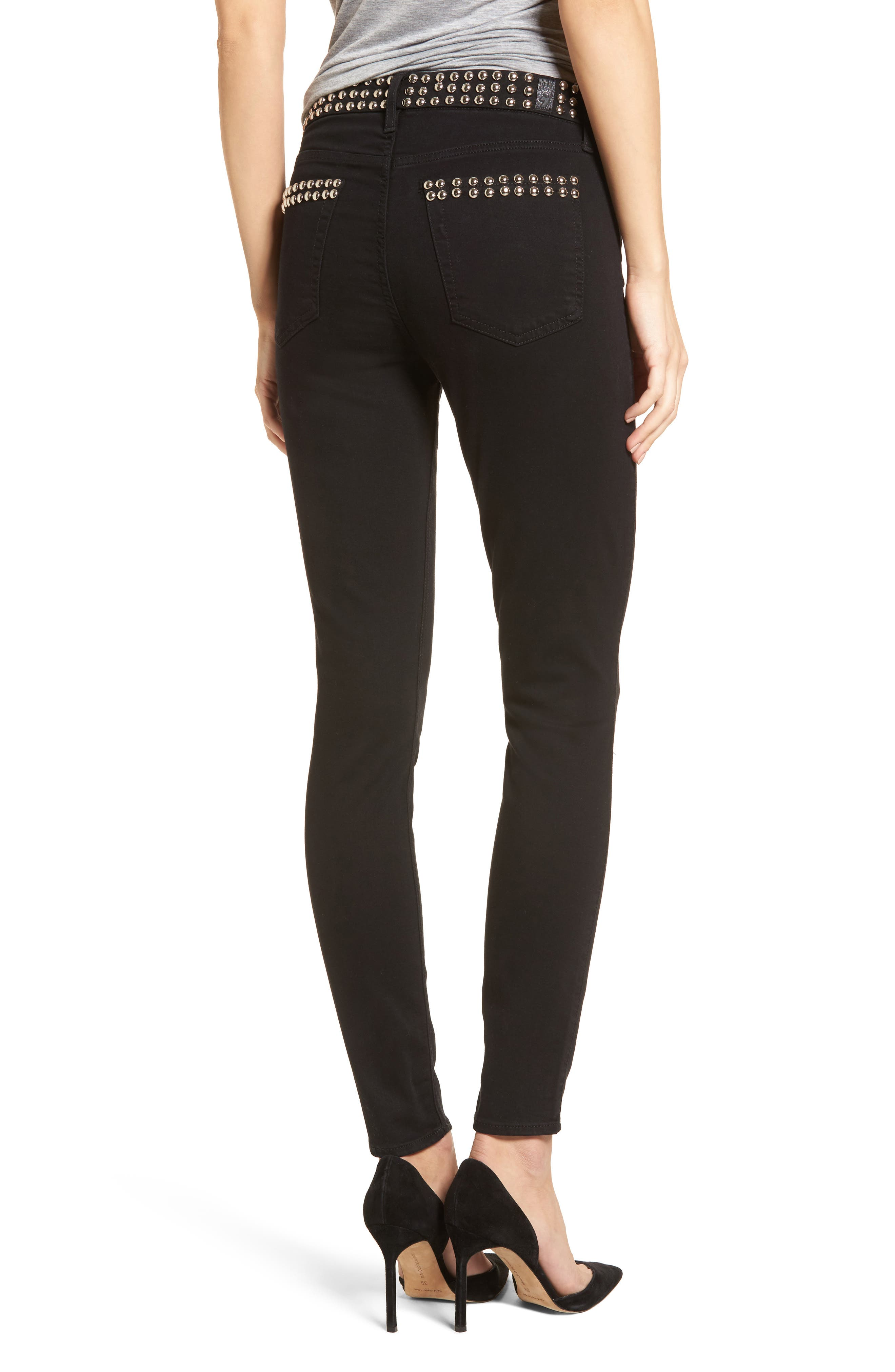 The Ankle Skinny Jeans,                             Alternate thumbnail 2, color,
