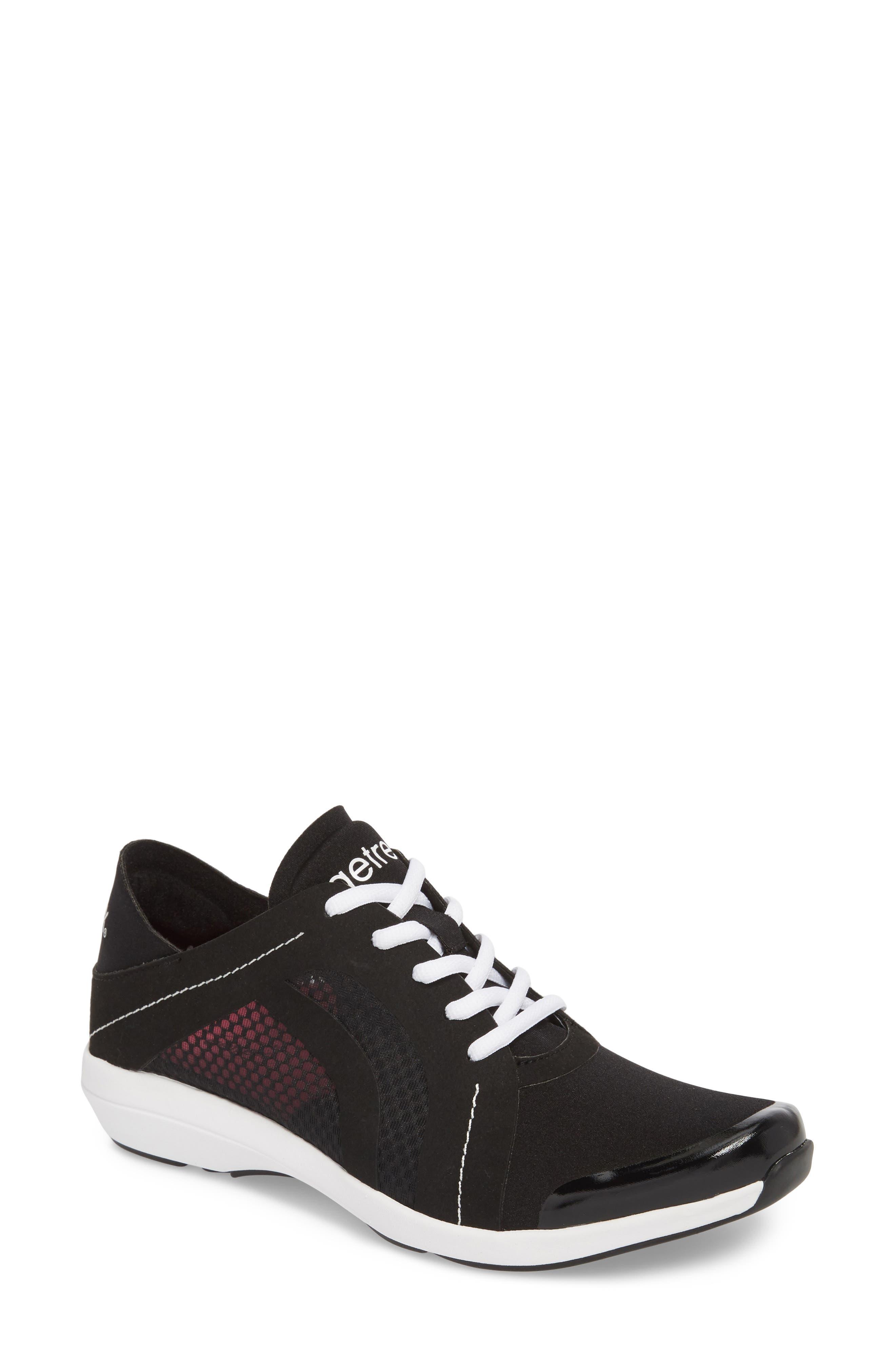 Sloane Sneaker,                         Main,                         color, BLACK FABRIC