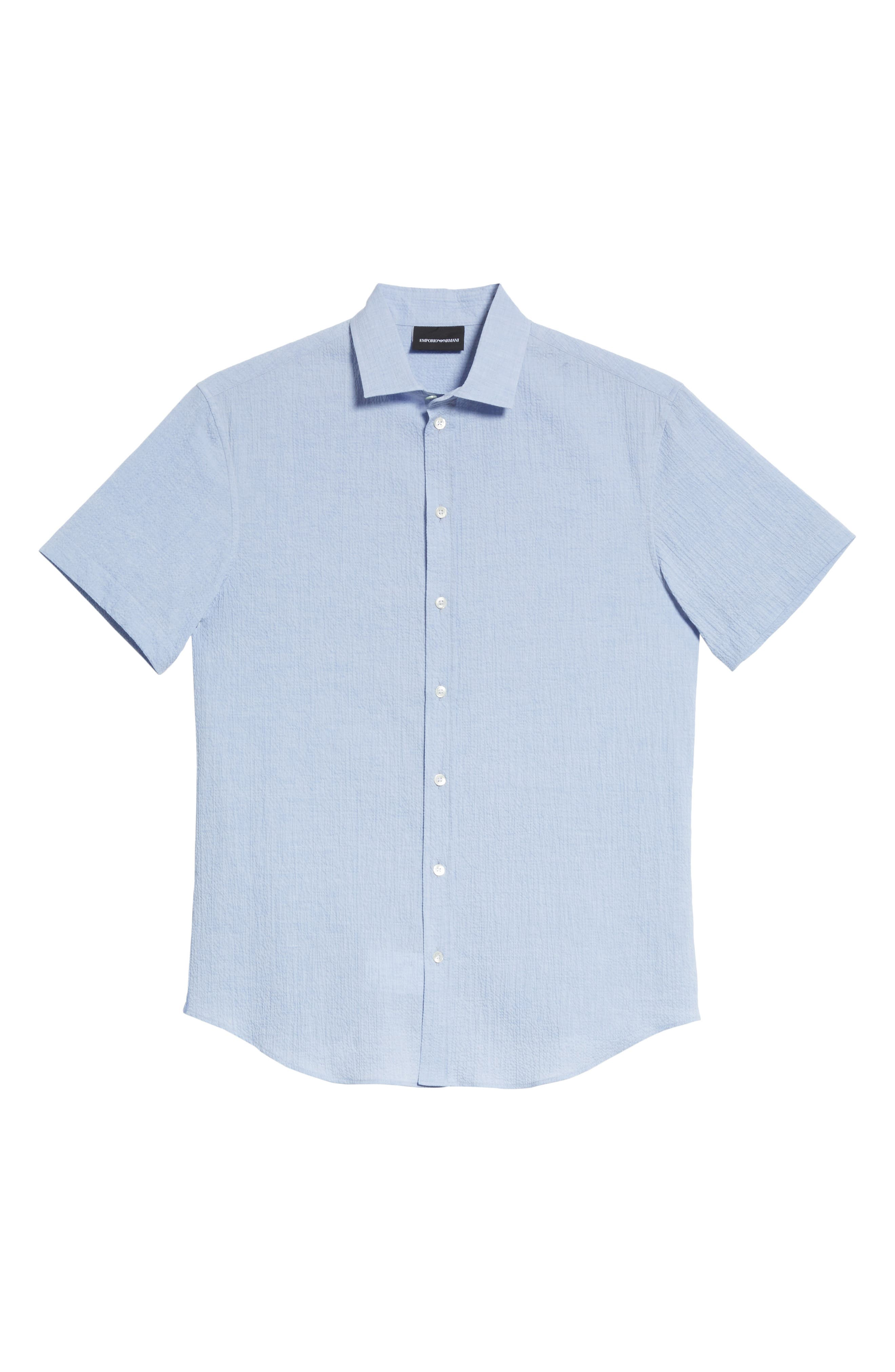 Regular Fit Seersucker Sport Shirt,                             Alternate thumbnail 6, color,