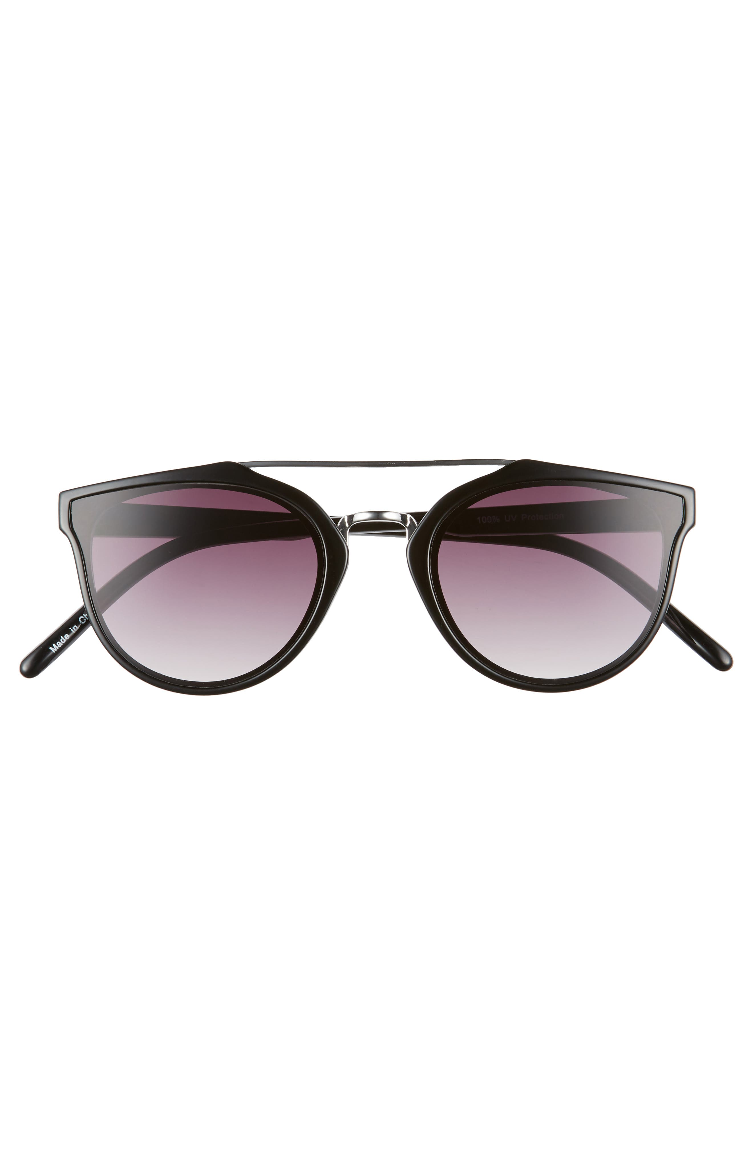 54mm Aviator Sunglasses,                             Alternate thumbnail 3, color,                             001