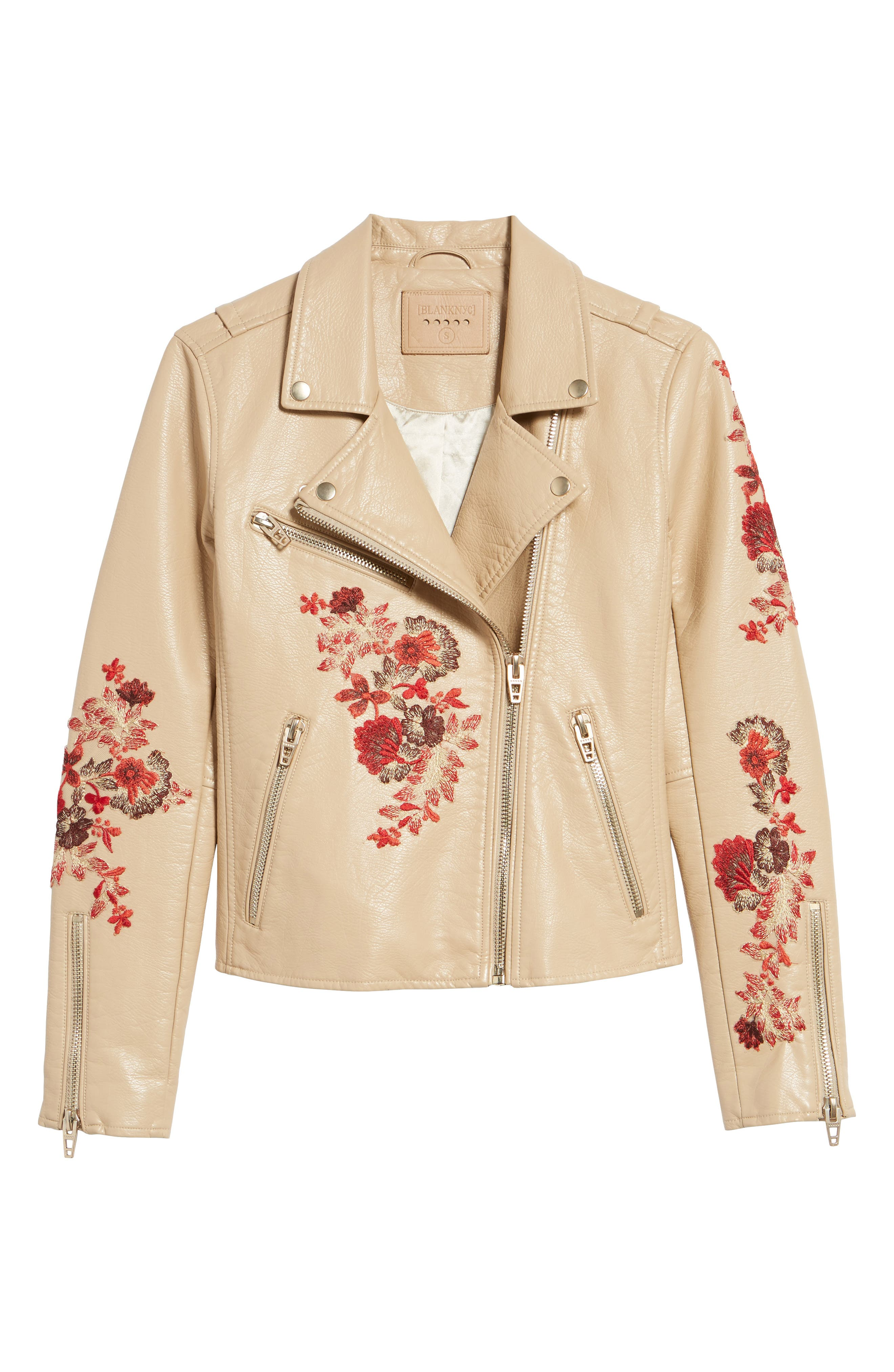 Embroidered Moto Jacket,                             Alternate thumbnail 5, color,