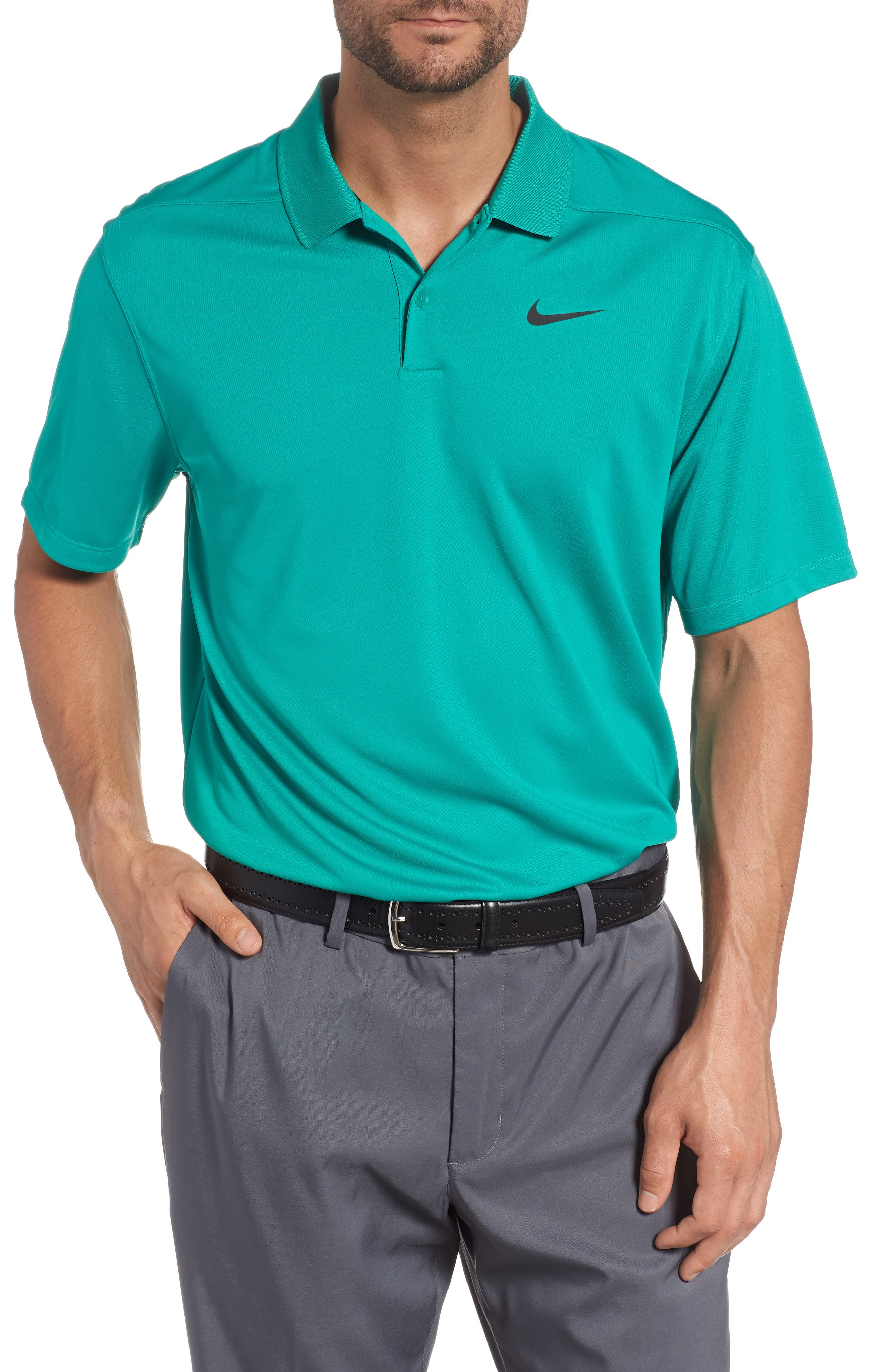 Dry Victory Golf Polo,                         Main,                         color, NEPTUNE GREEN/ BLACK