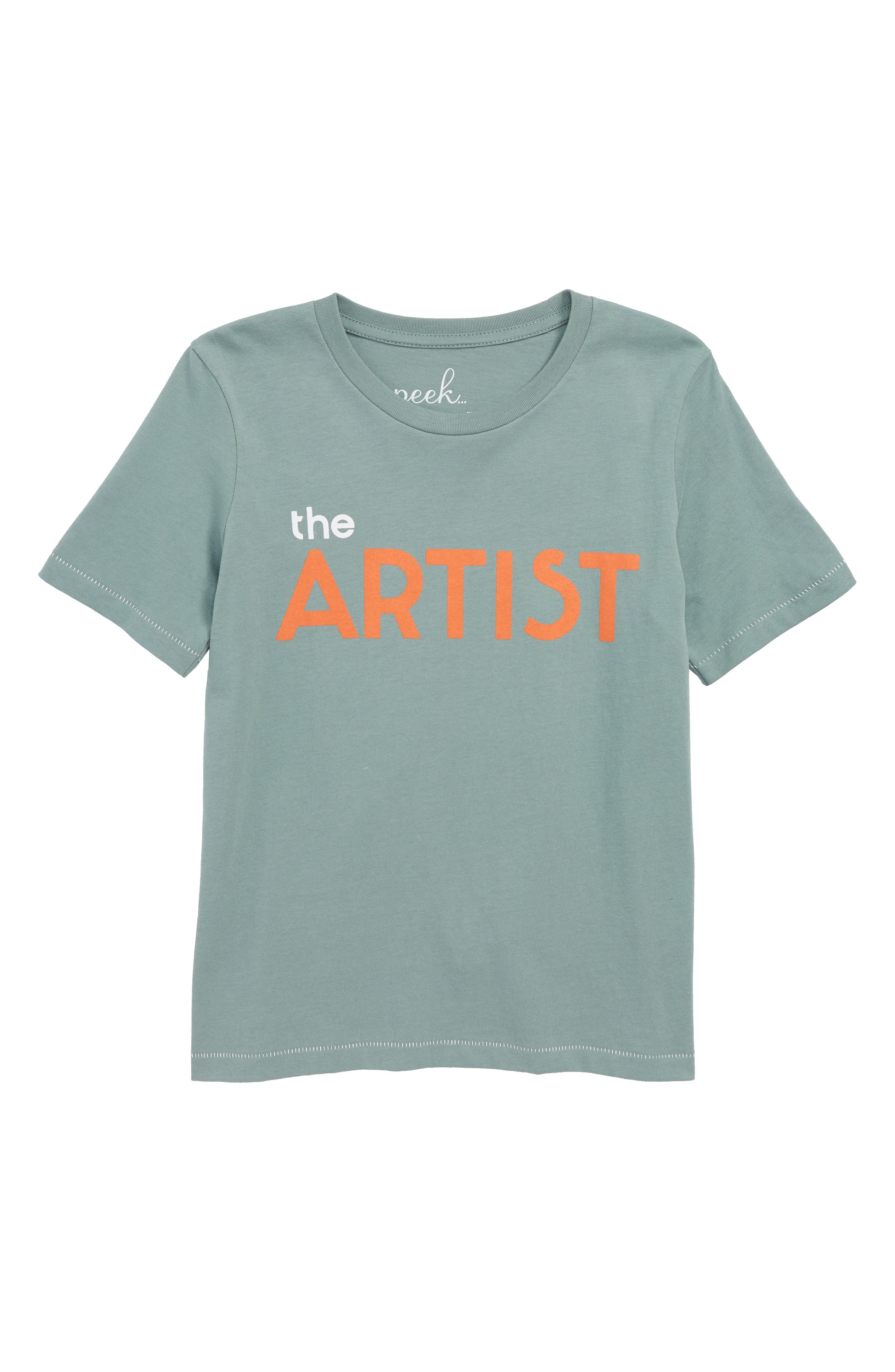 The Artist Graphic T-Shirt,                             Main thumbnail 1, color,                             GREEN