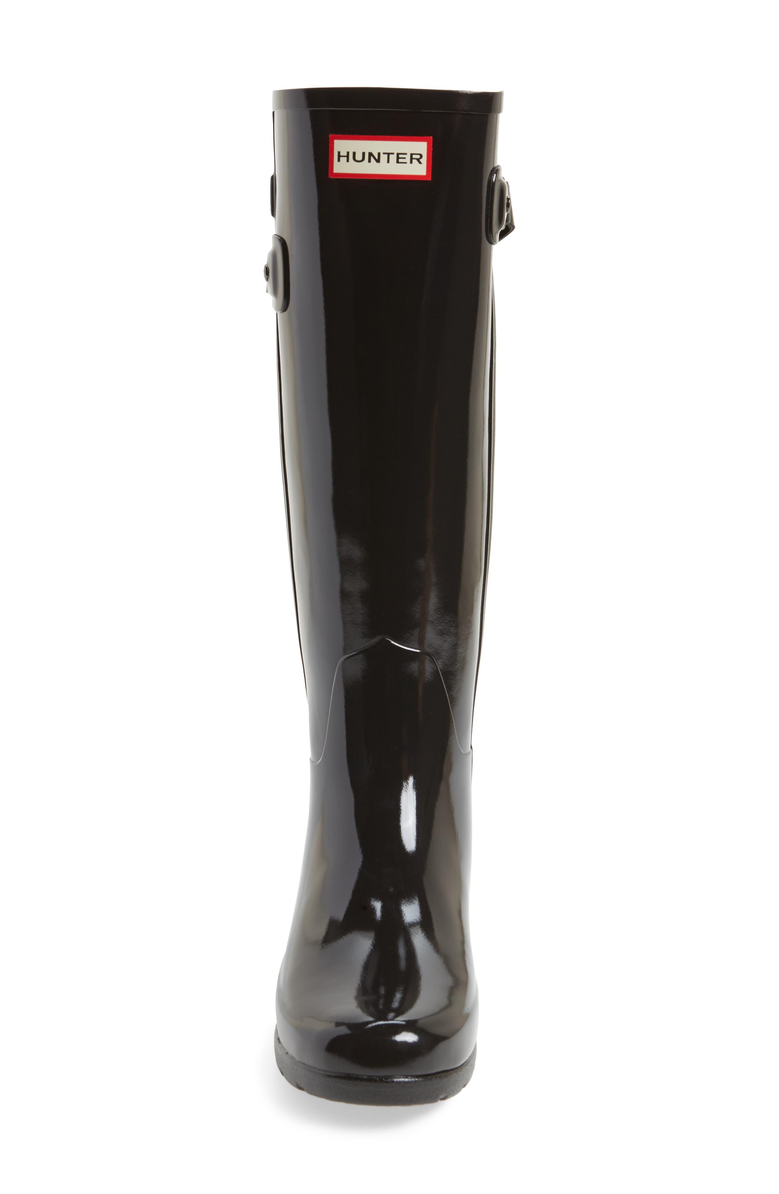Original Refined High Gloss Rain Boot,                             Alternate thumbnail 4, color,
