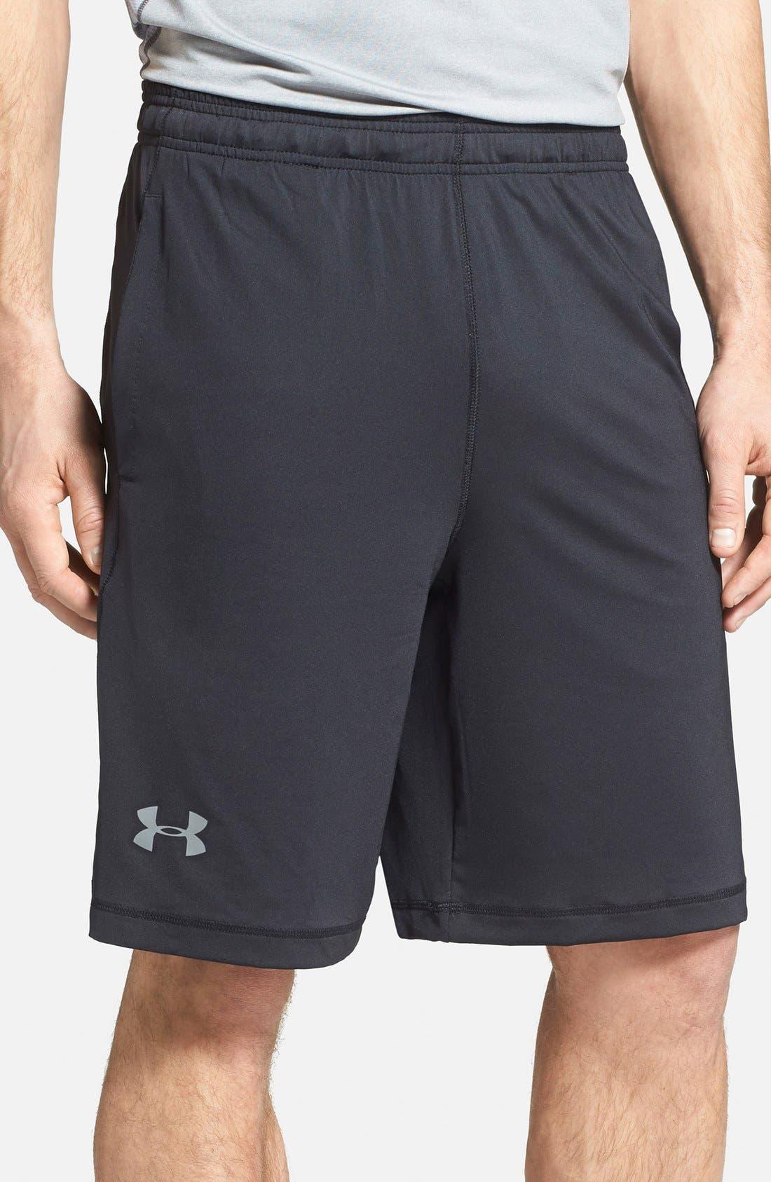 'Raid' HeatGear<sup>®</sup> Loose-Fit Athletic Shorts,                             Main thumbnail 1, color,                             001