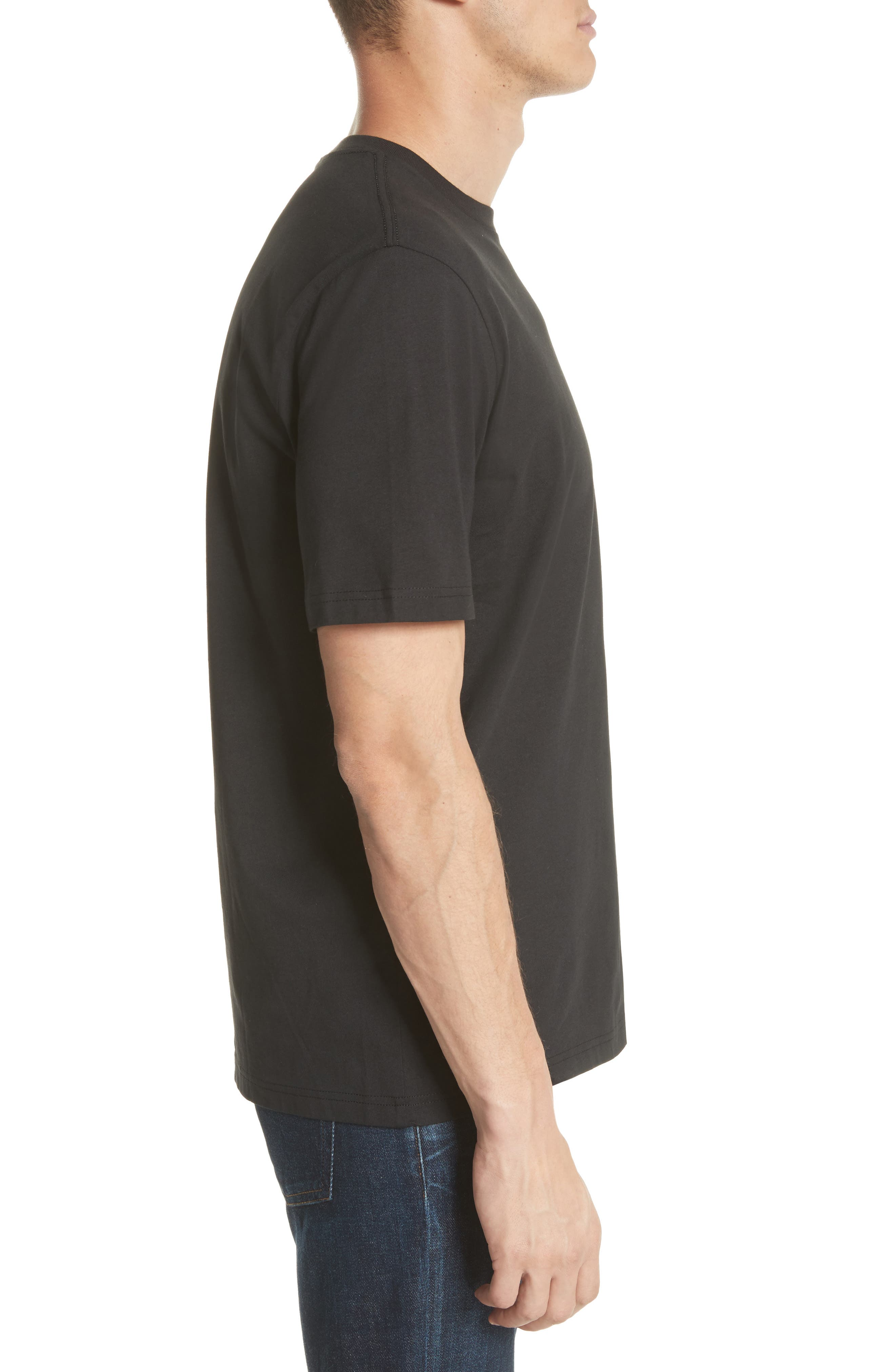 Dino Graphic T-Shirt,                             Alternate thumbnail 3, color,                             BLACK