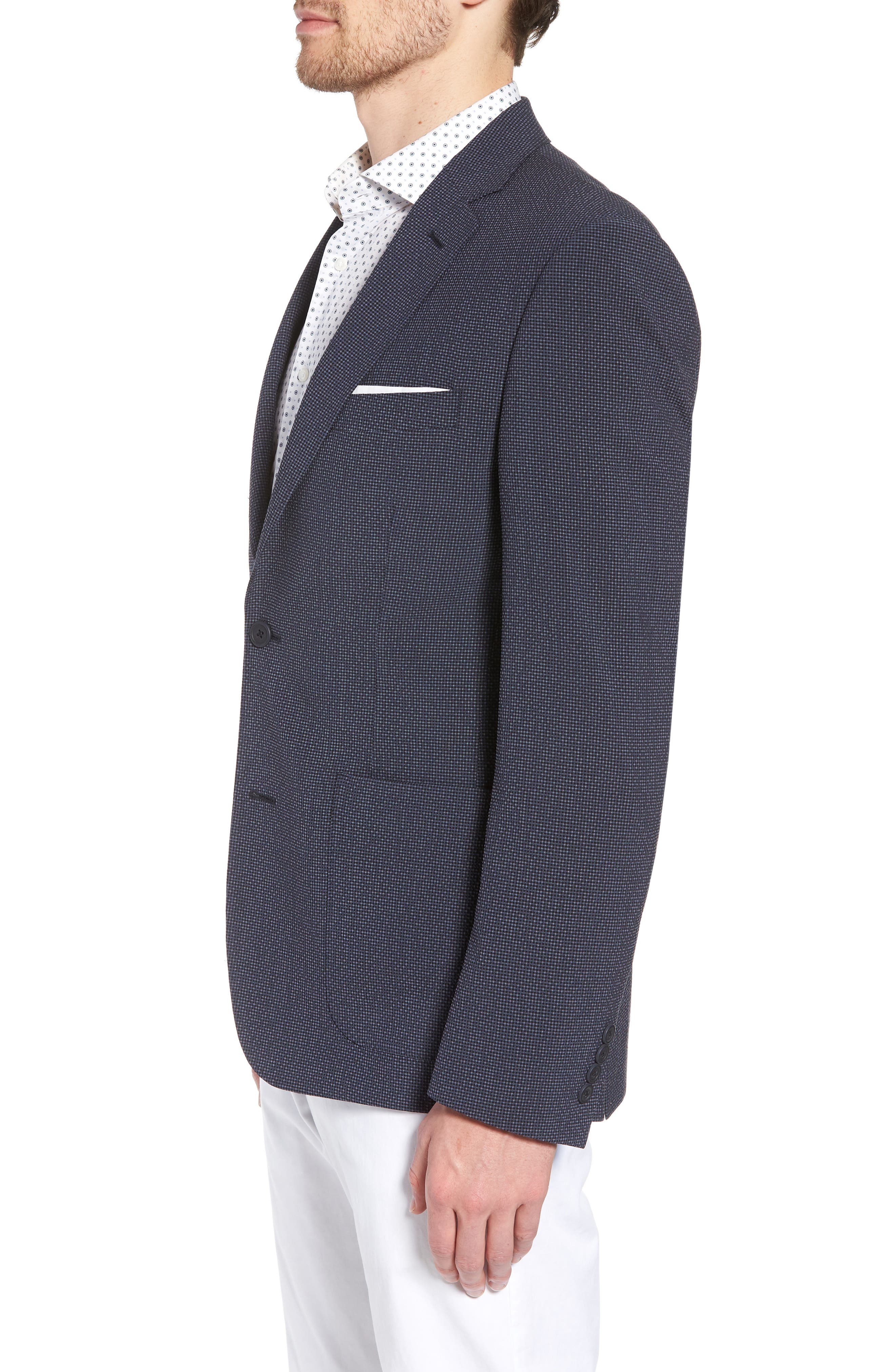 Trim Fit Seersucker Wool Blend Sport Coat,                             Alternate thumbnail 6, color,