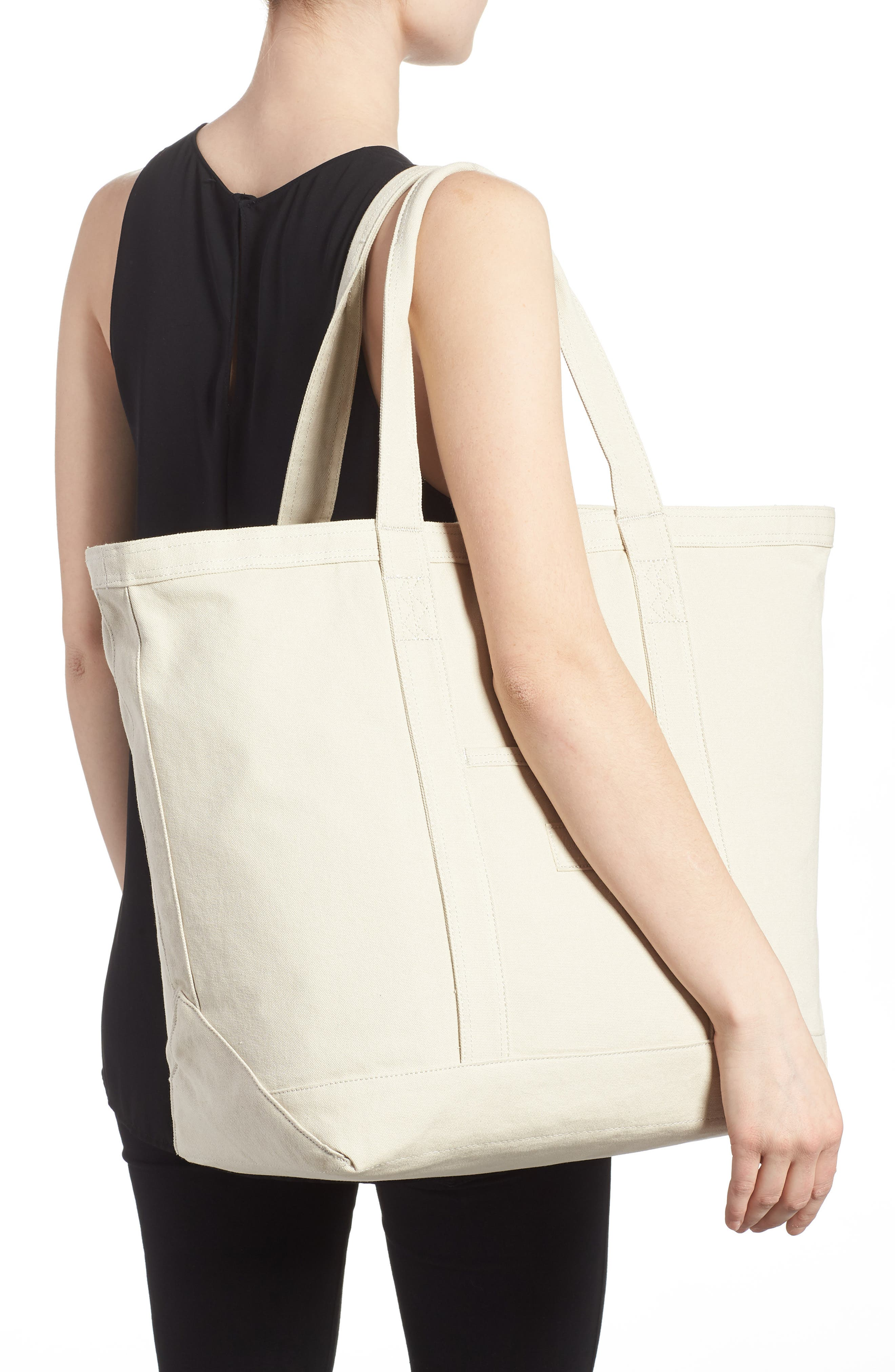 Bamfield Cotton Canvas Tote,                             Alternate thumbnail 6, color,