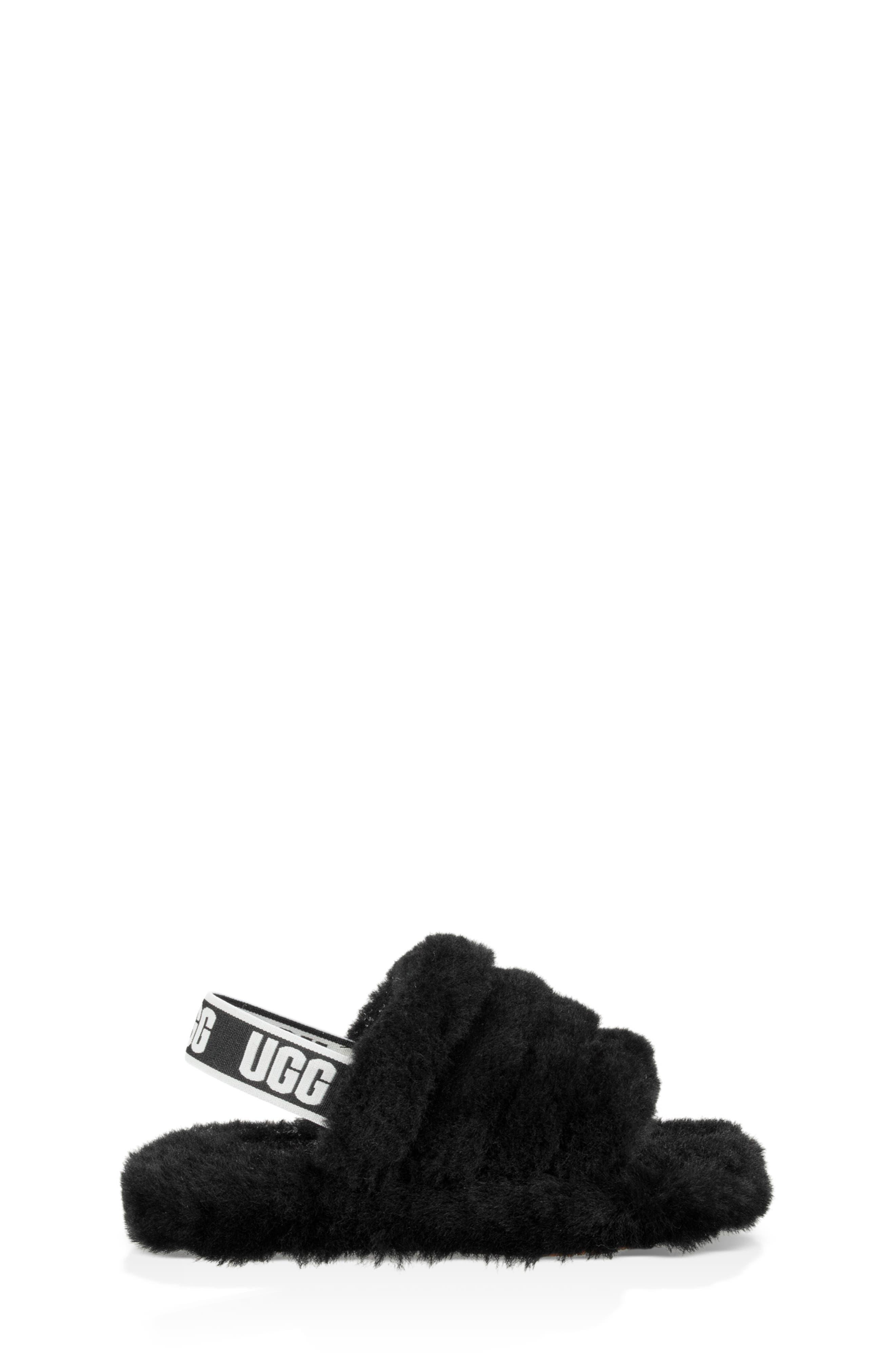 Fluff Yeah Slide Sandal,                             Alternate thumbnail 3, color,                             BLACK