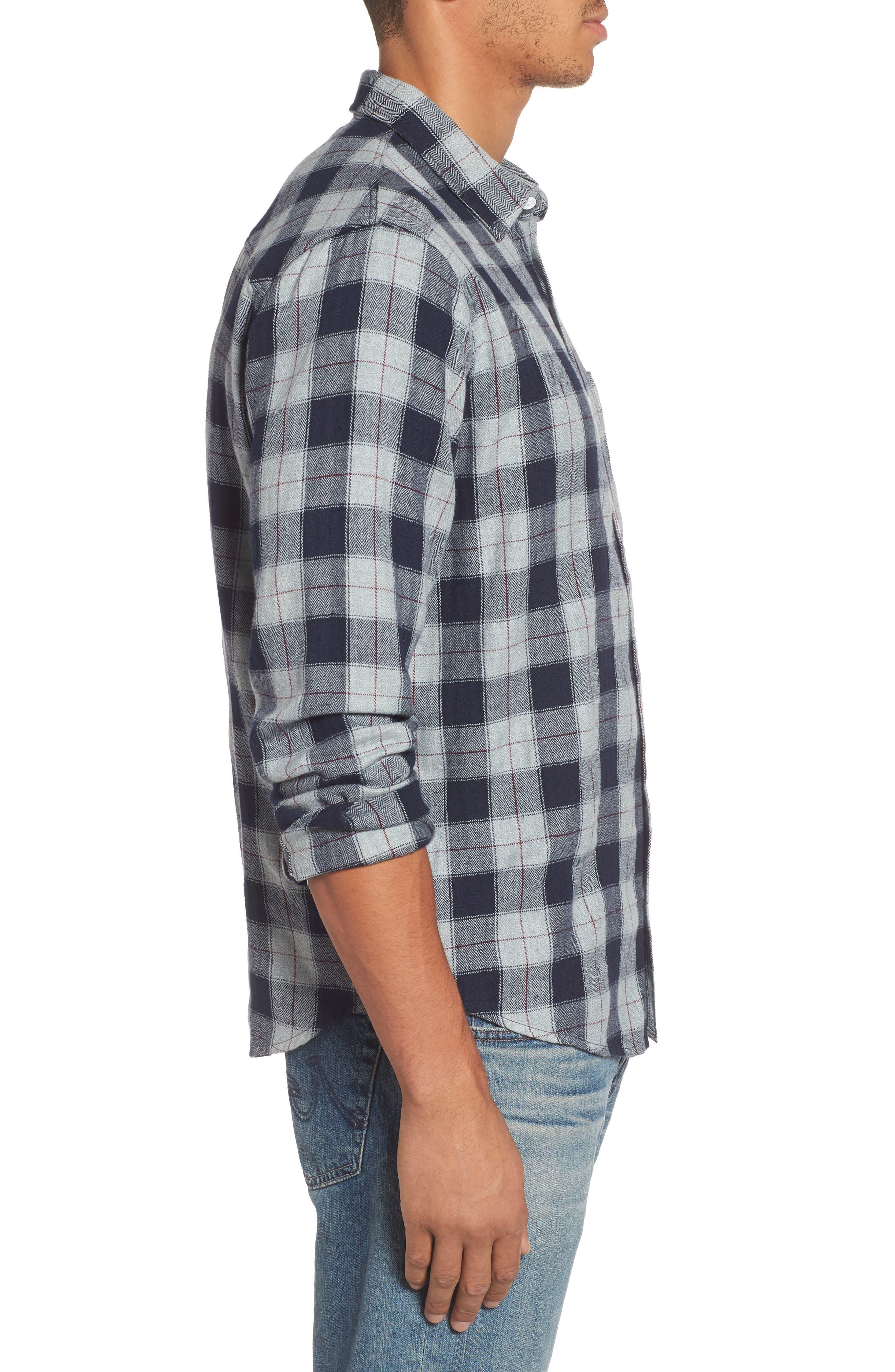 Harper Regular Fit Plaid Sport Shirt,                             Alternate thumbnail 4, color,                             071