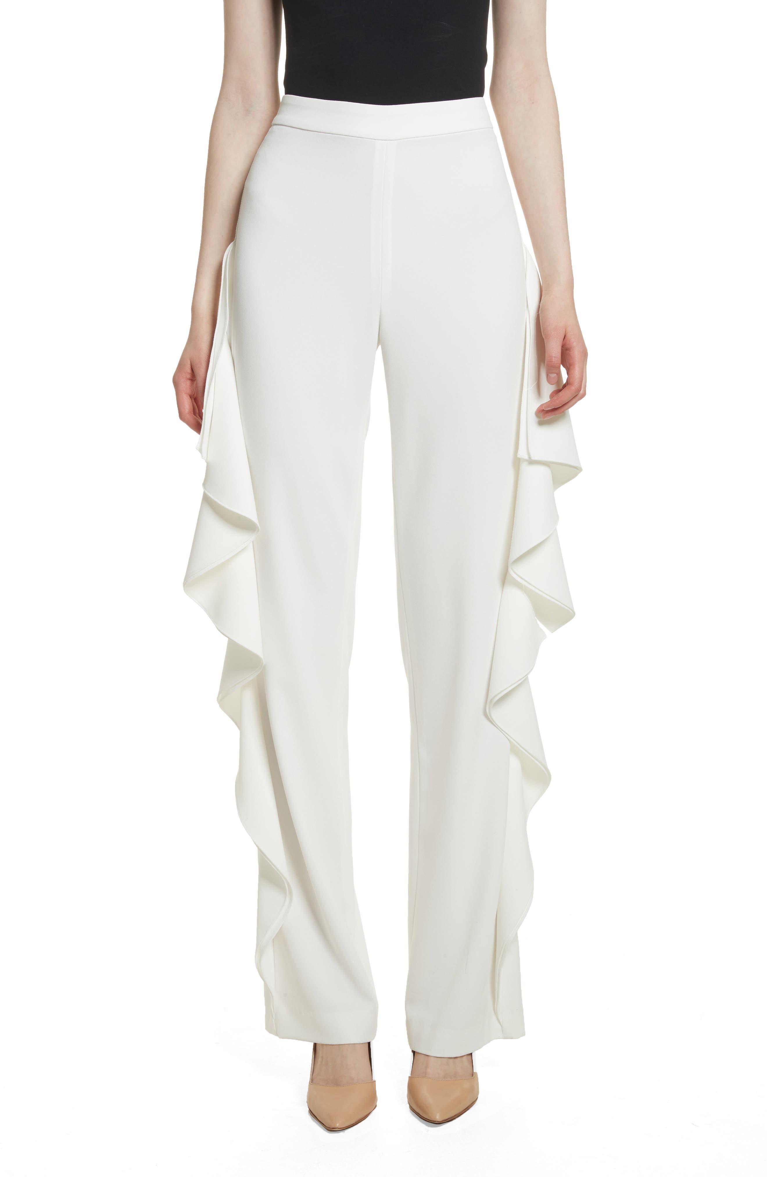 Estell Ruffle Side Pants,                         Main,                         color,