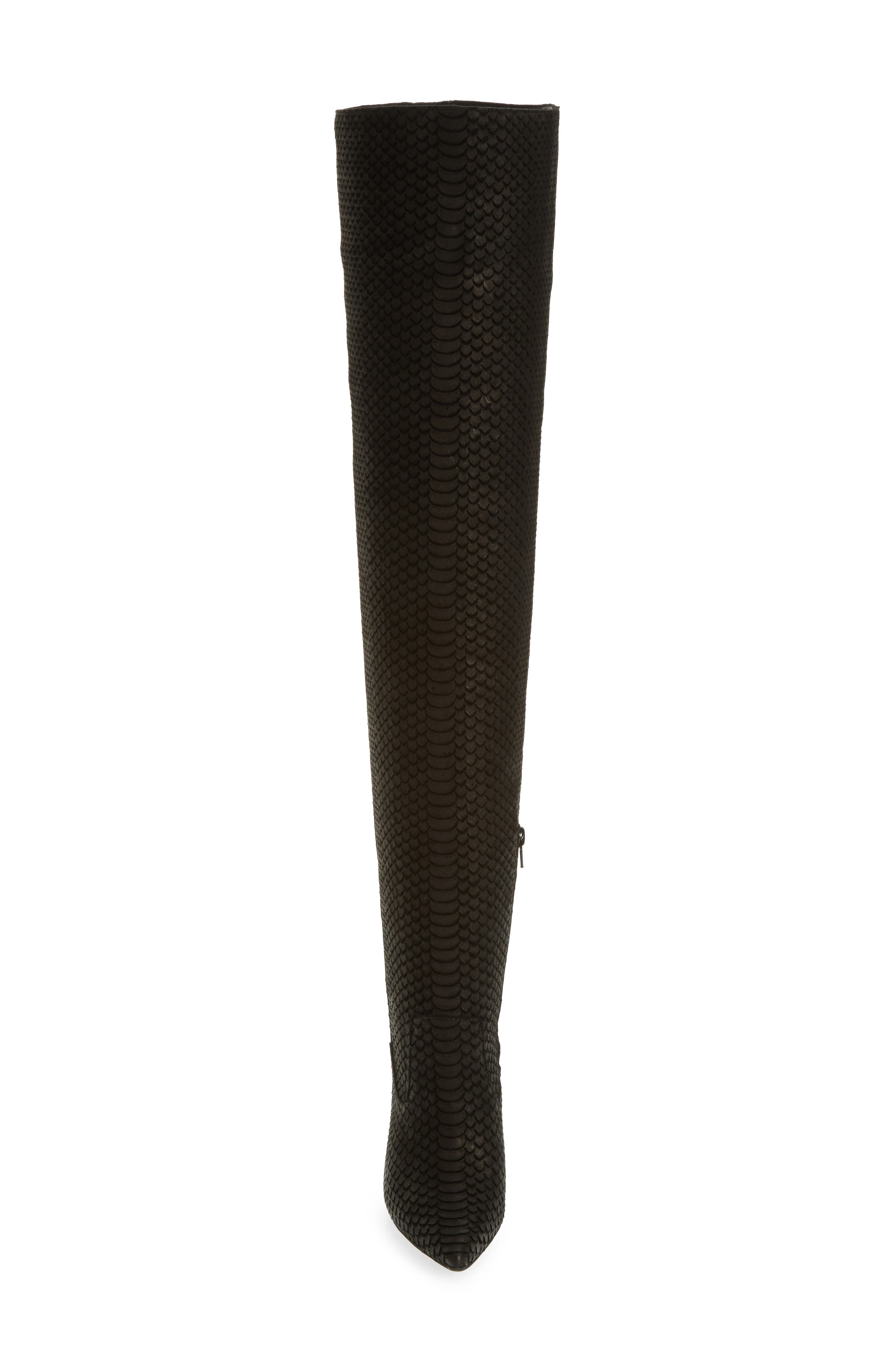Galactic Thigh High Boot,                             Alternate thumbnail 4, color,                             001