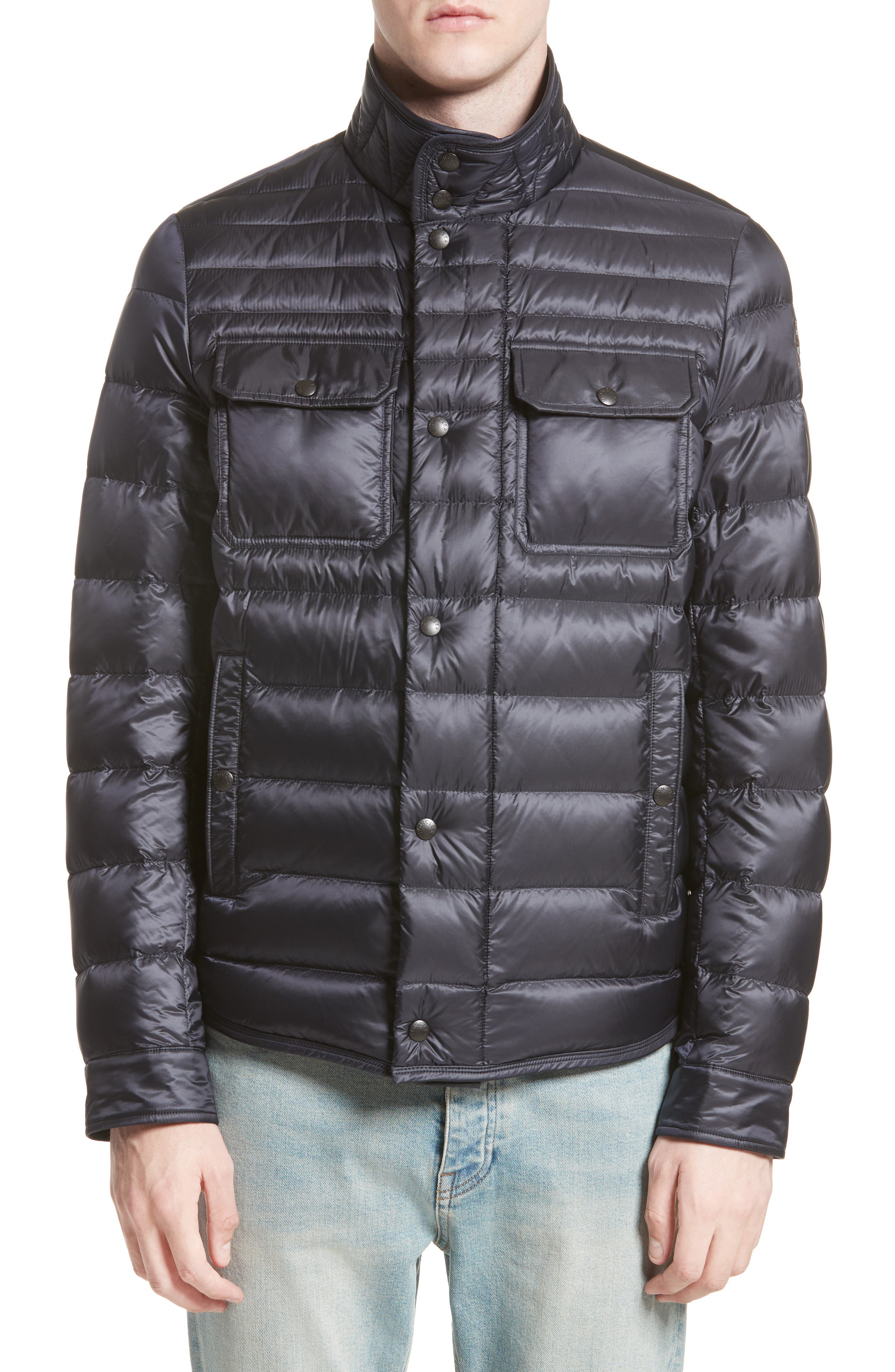 Forbin Stand Collar Quilted Down Jacket,                             Alternate thumbnail 4, color,                             419