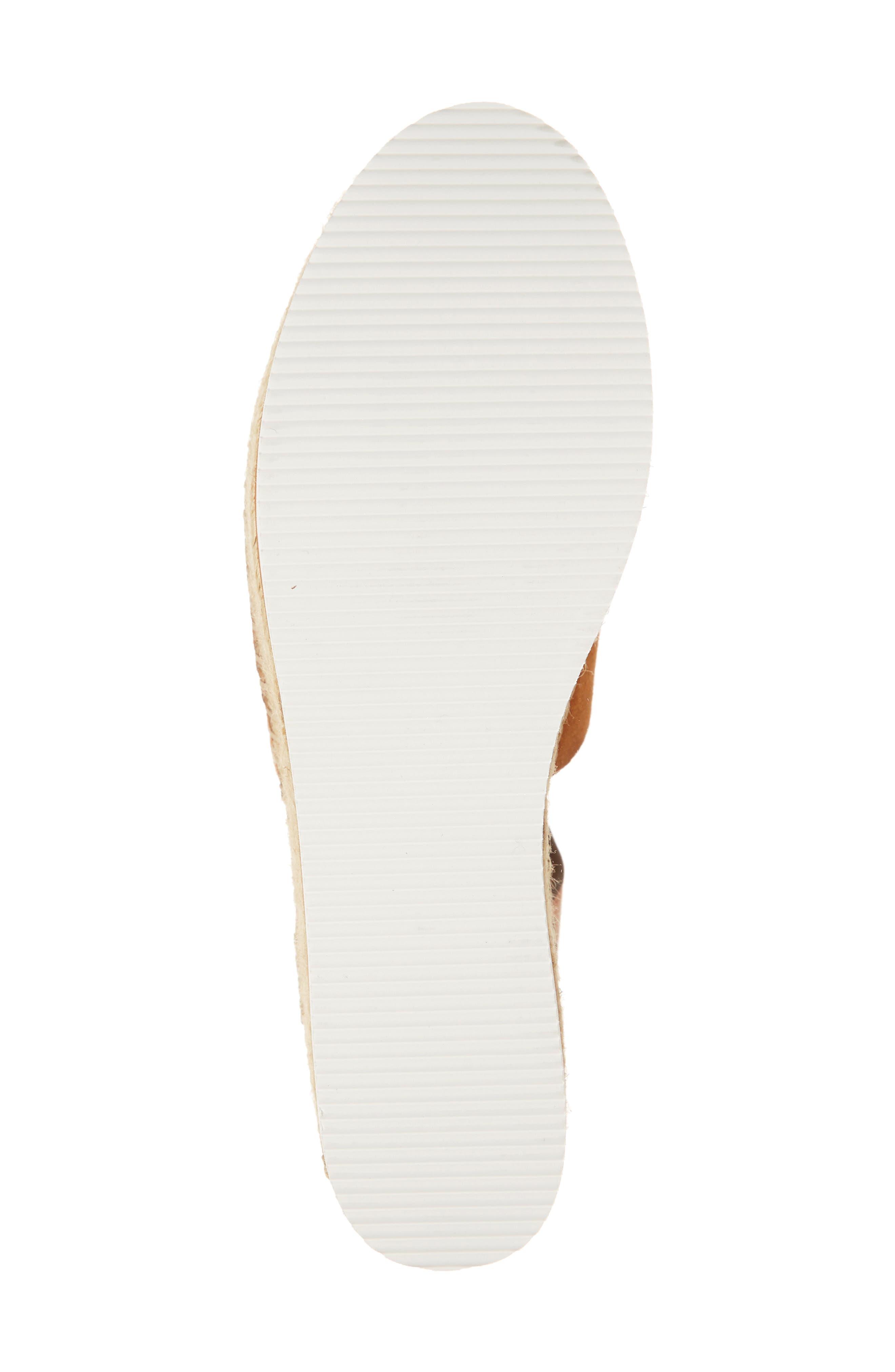 Glyn Amber Platform Ankle Wrap Sandal,                             Alternate thumbnail 6, color,                             TAN