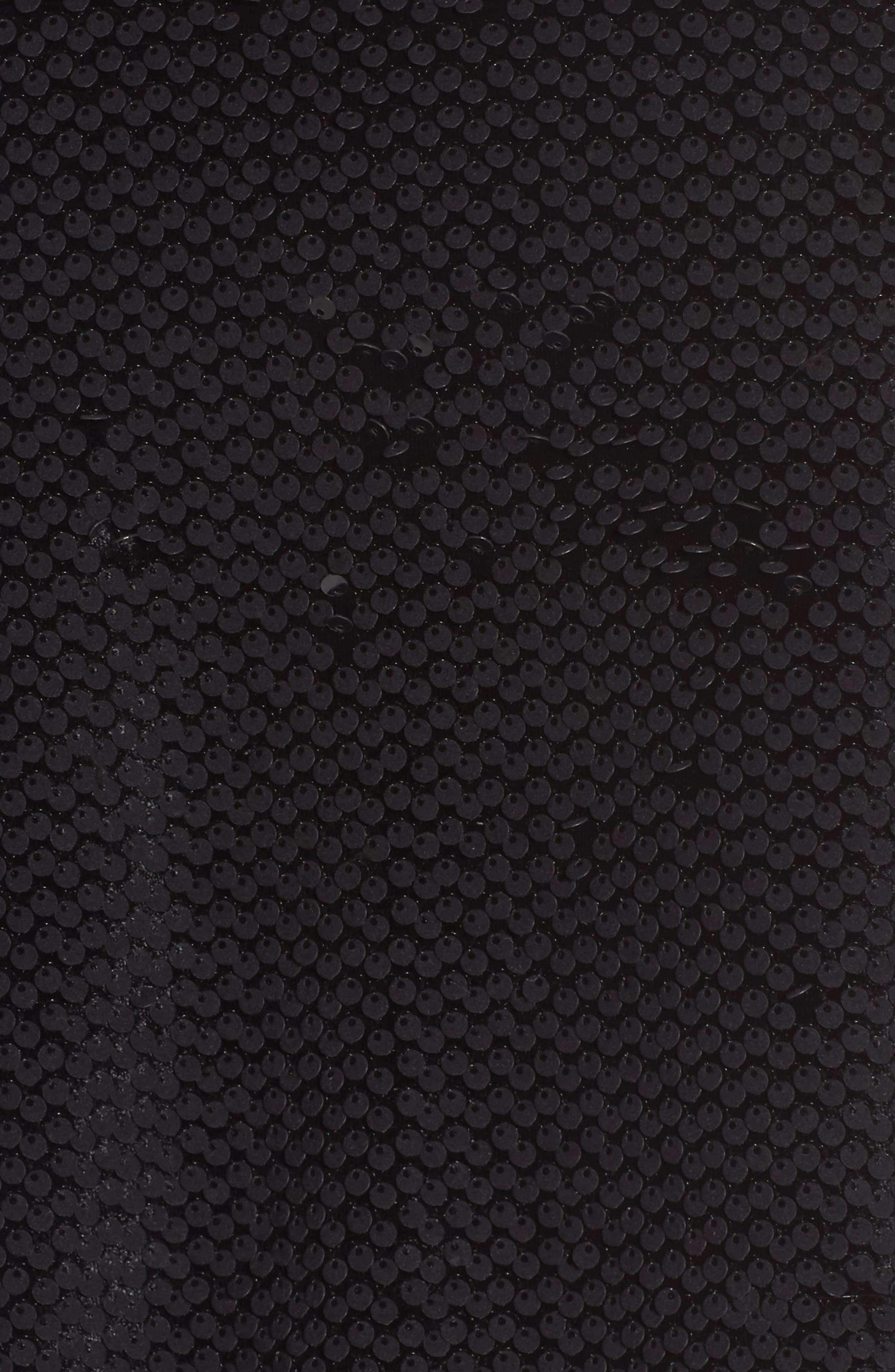 Sequin Velvet Track Jacket,                             Alternate thumbnail 6, color,                             001