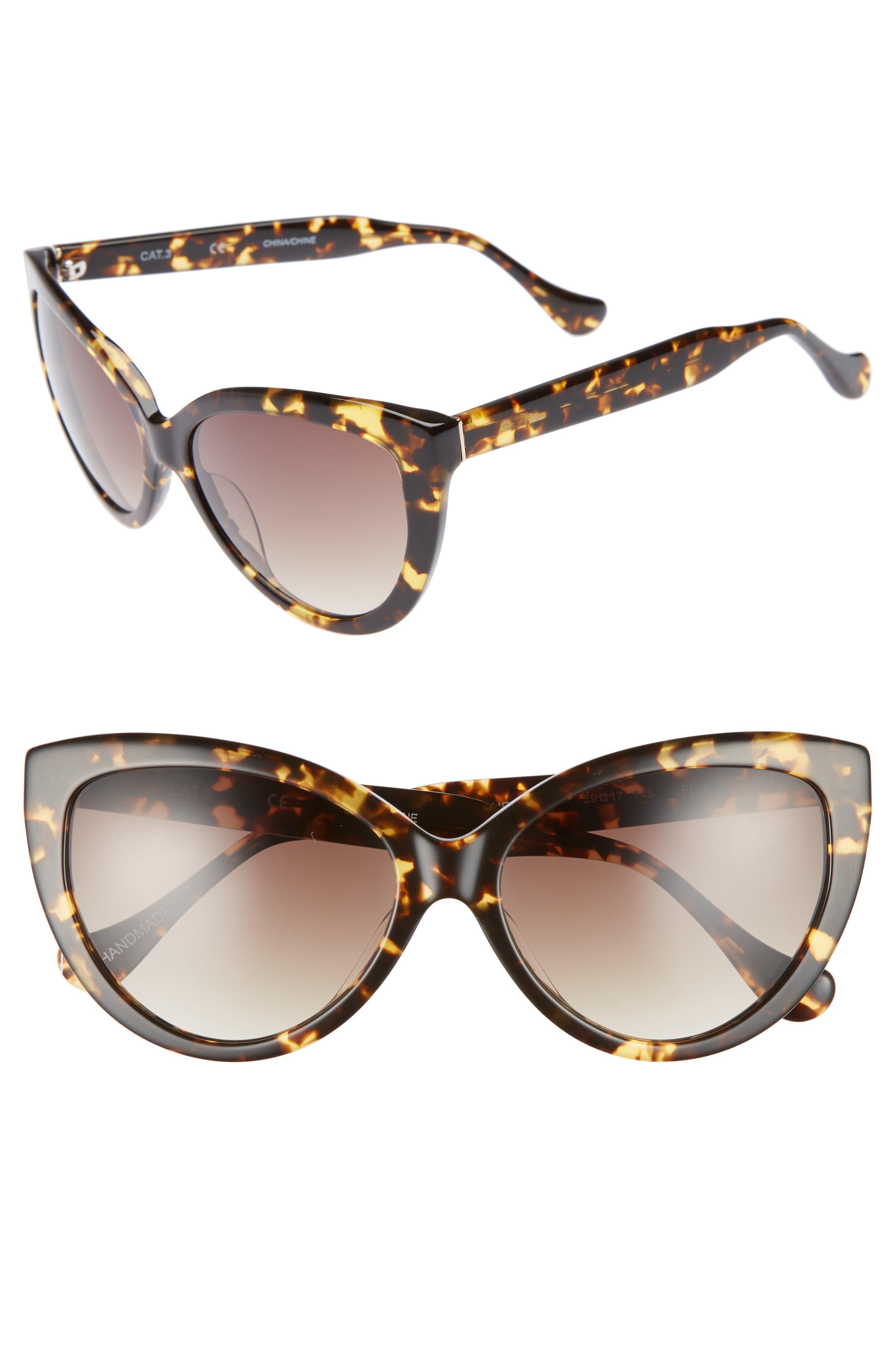 Curiosity 59mm Cat Eye Sunglasses,                             Main thumbnail 2, color,