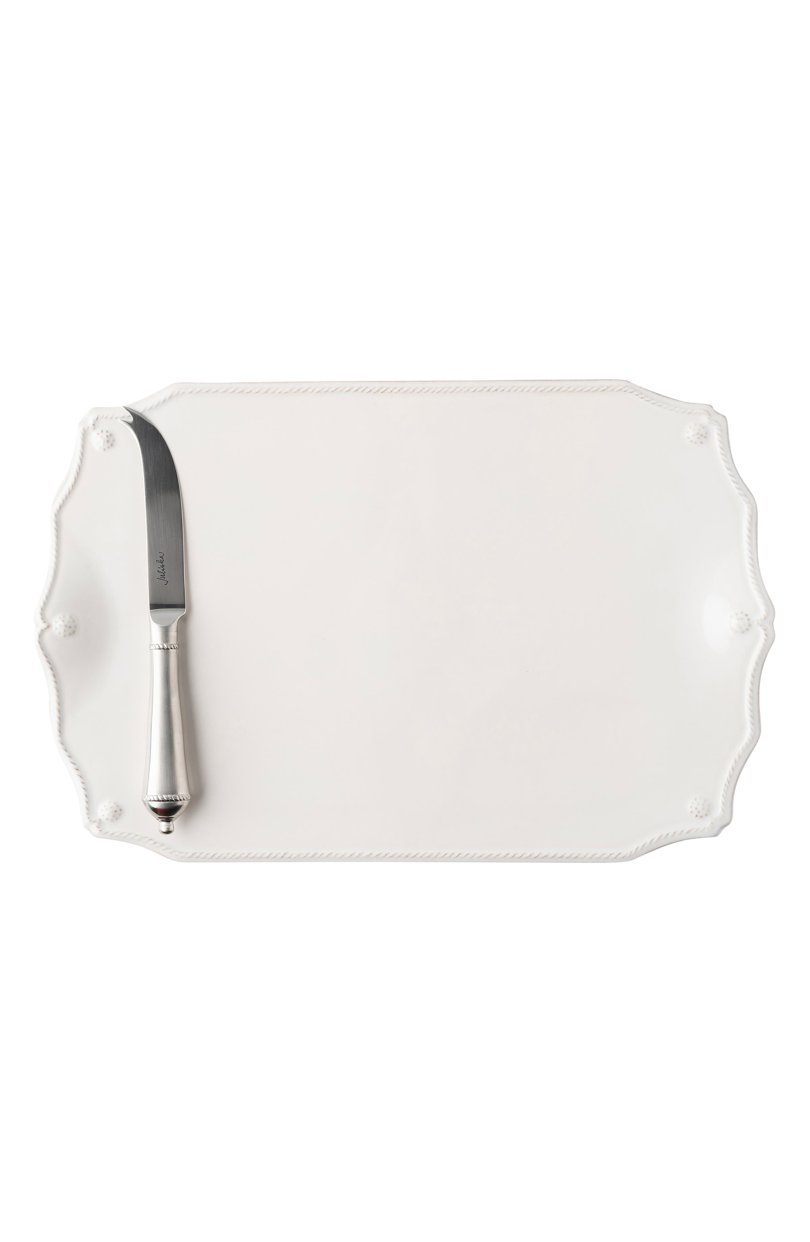 Berry and Thread Serving Board & Knife,                             Alternate thumbnail 2, color,                             WHITEWASH