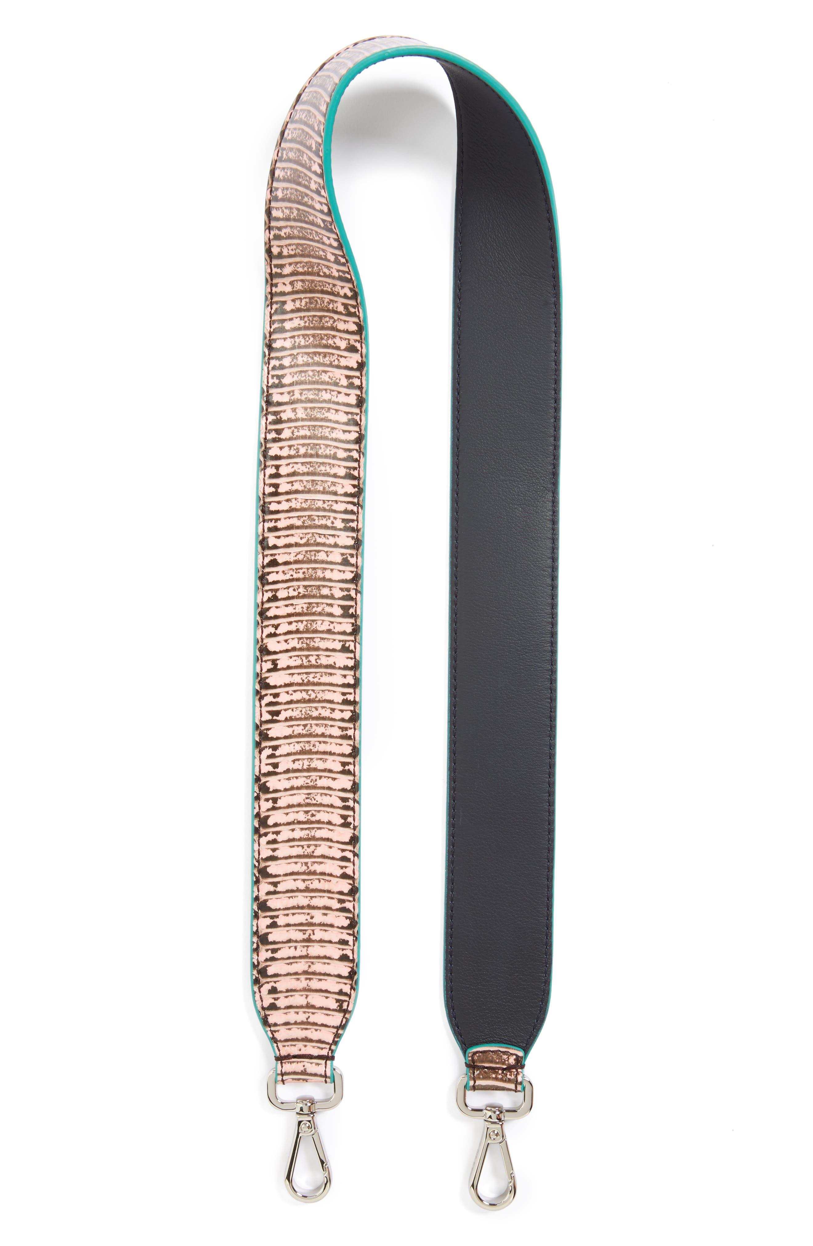 Genuine Snakeskin Guitar Strap,                             Main thumbnail 1, color,                             PINK