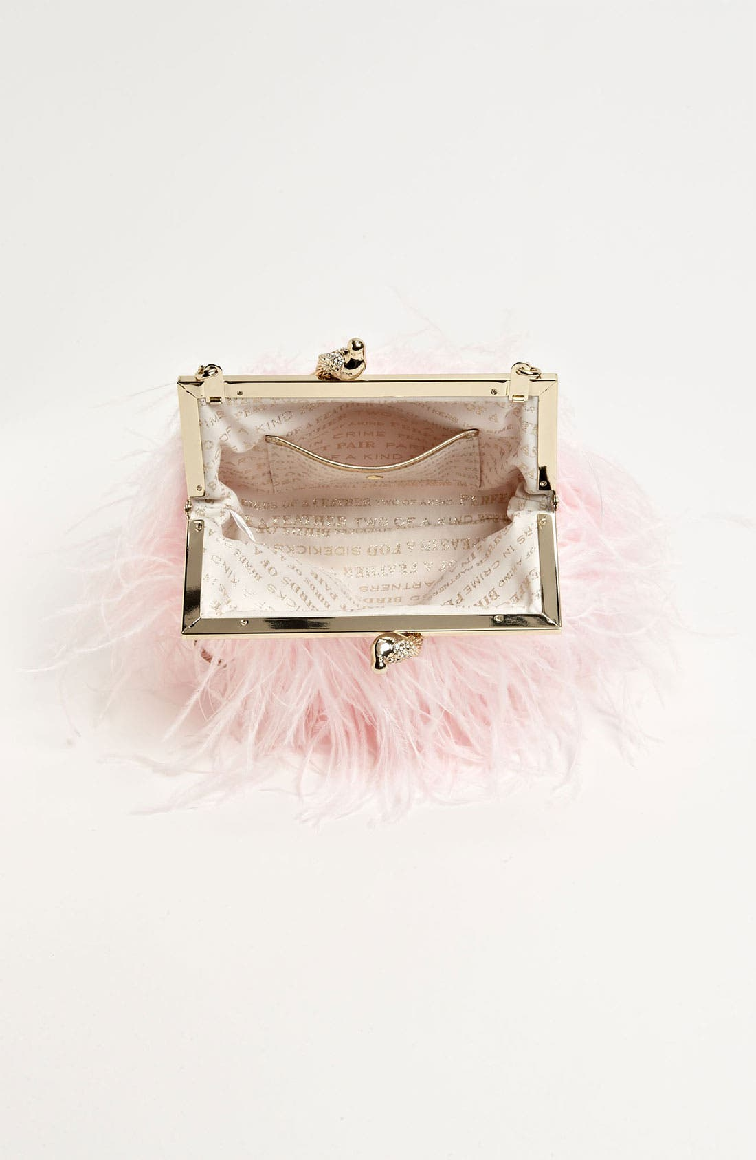 'belle elliana' feather clutch,                             Alternate thumbnail 9, color,