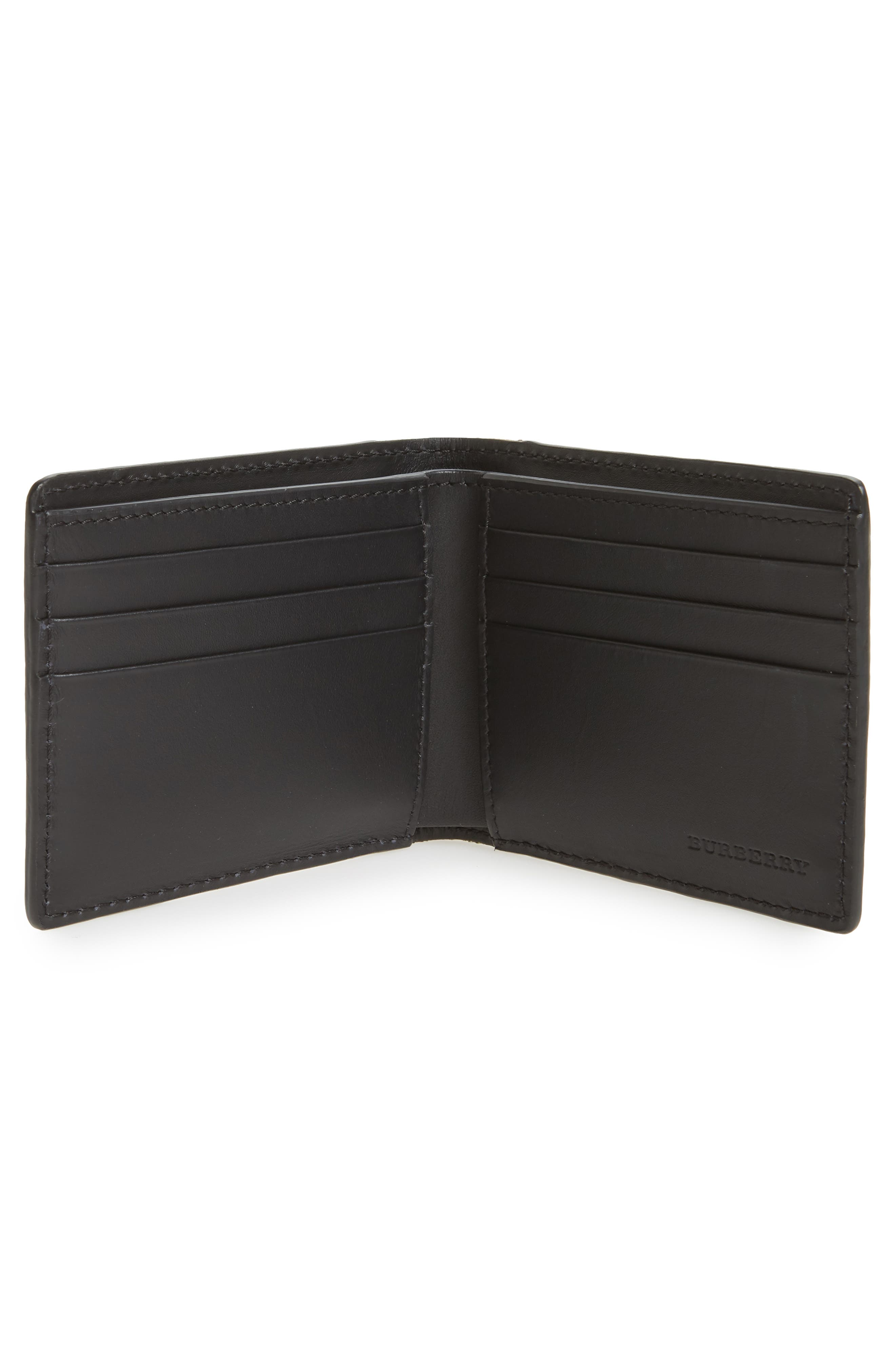 Check Leather Wallet,                             Alternate thumbnail 2, color,                             001