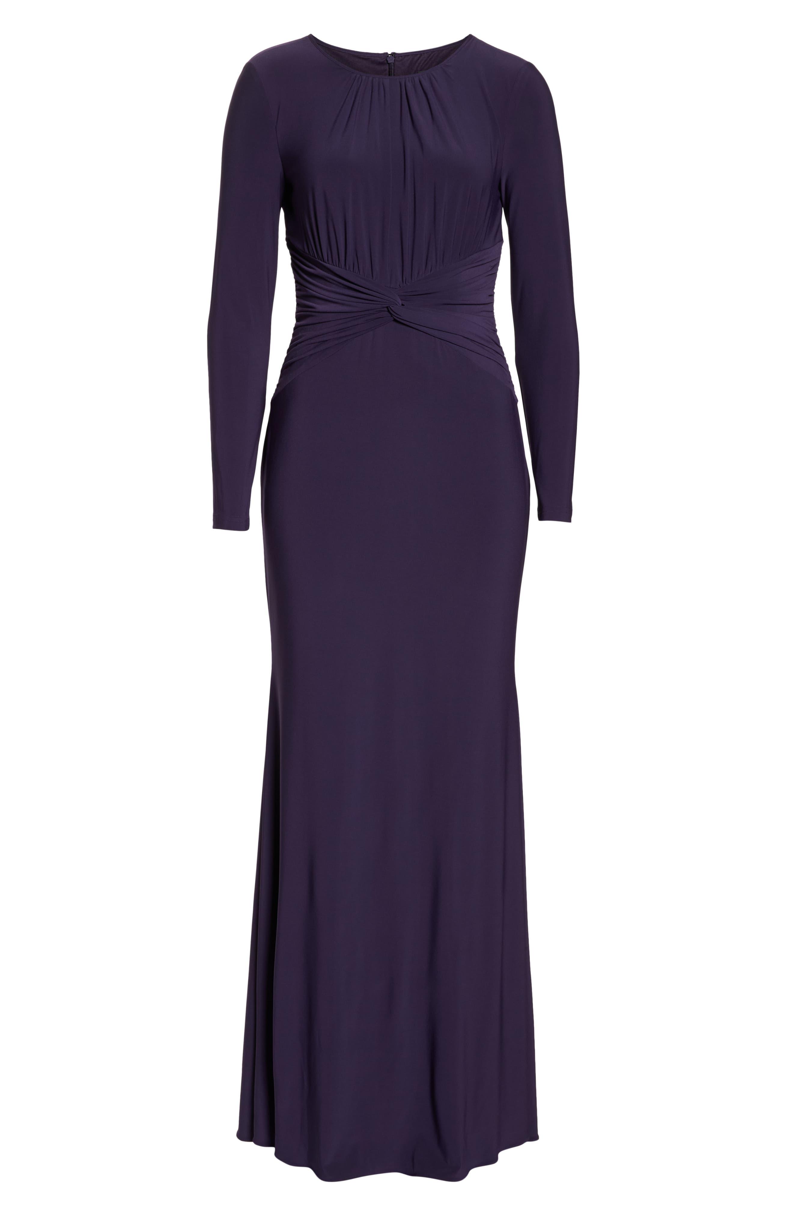 ADRIANNA PAPELL,                             Twist Waist Knit Dress,                             Alternate thumbnail 7, color,                             501