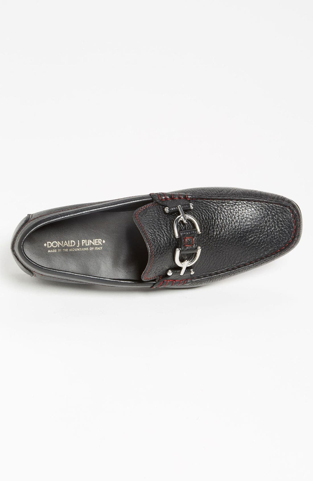 Dacio II Loafer,                             Alternate thumbnail 3, color,                             BLACK/ BLACK LEATHER