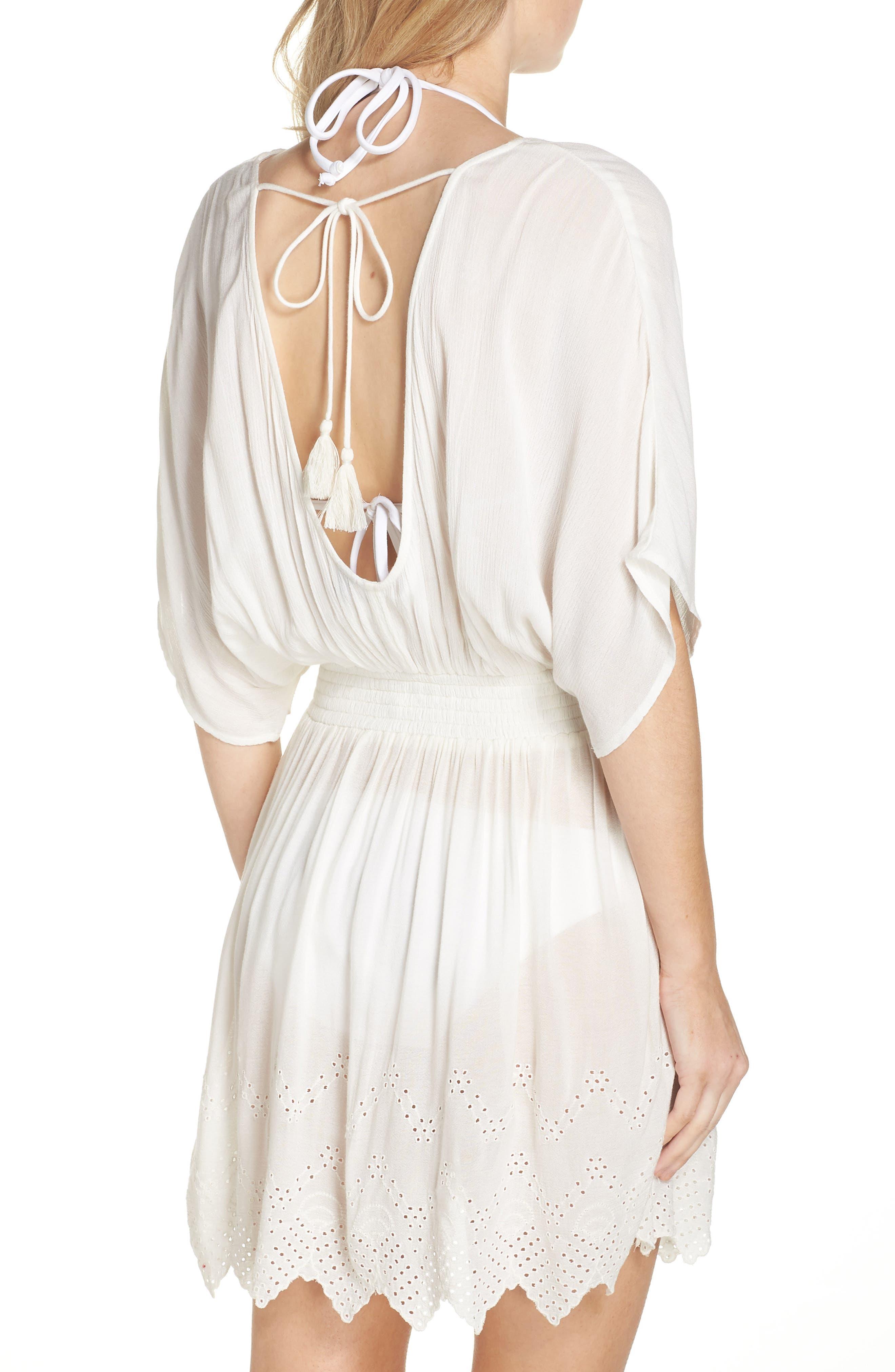 Goddess Cover-Up Dress,                             Alternate thumbnail 2, color,                             IVORY EGRET