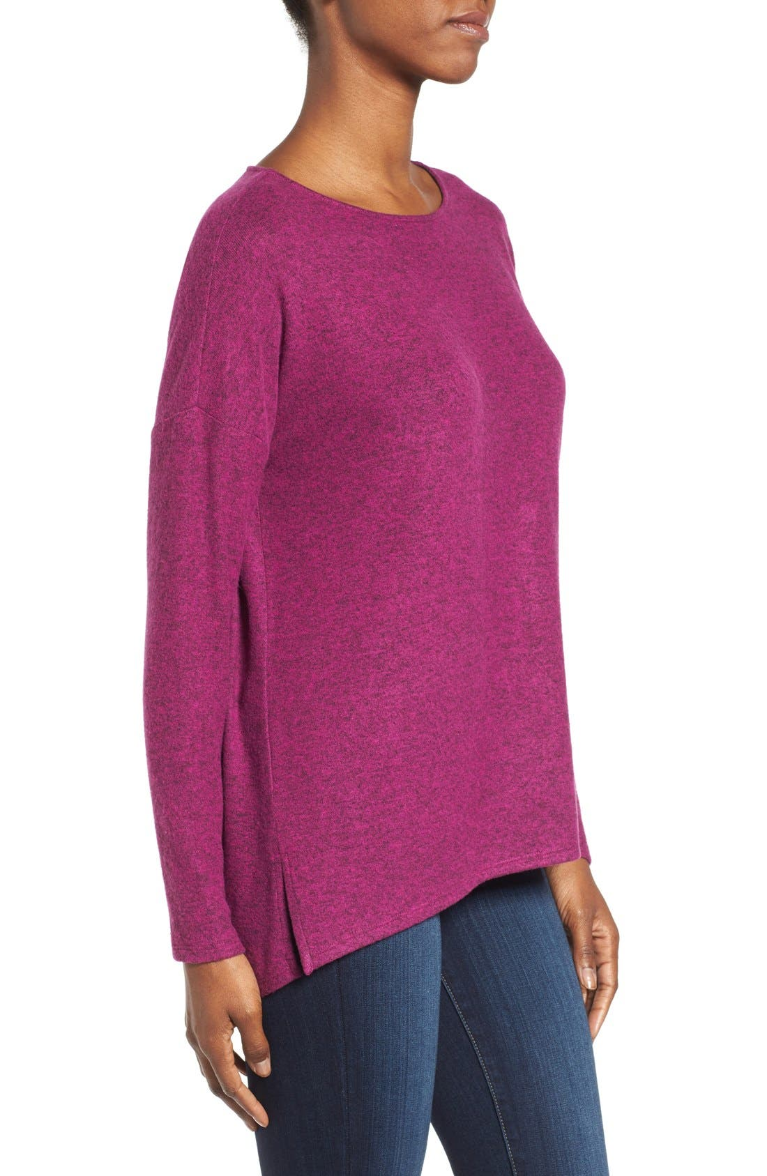Cozy Ballet Neck High/Low Pullover,                             Alternate thumbnail 68, color,