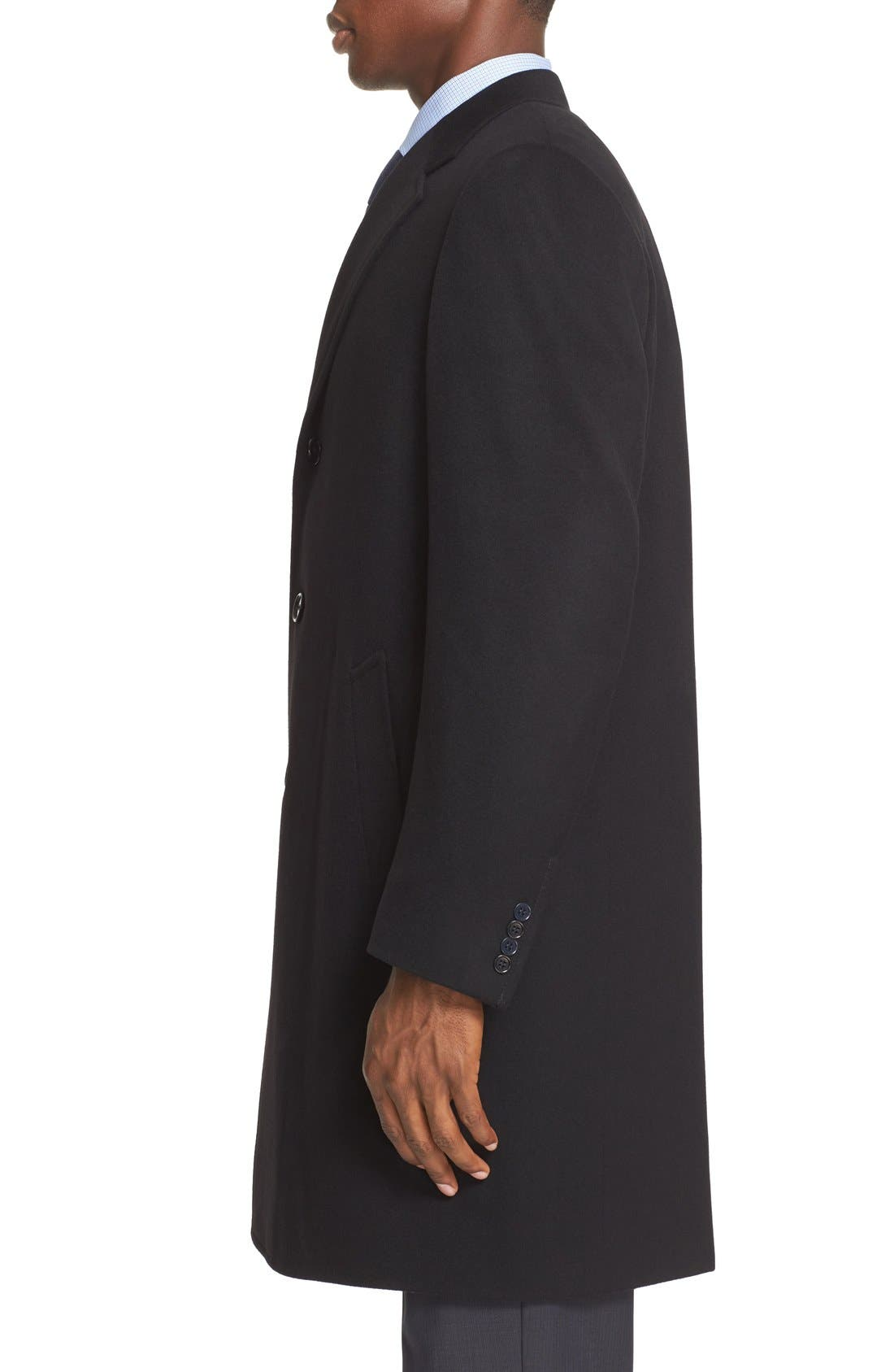 Classic Fit Wool & Cashmere Topcoat,                             Alternate thumbnail 3, color,