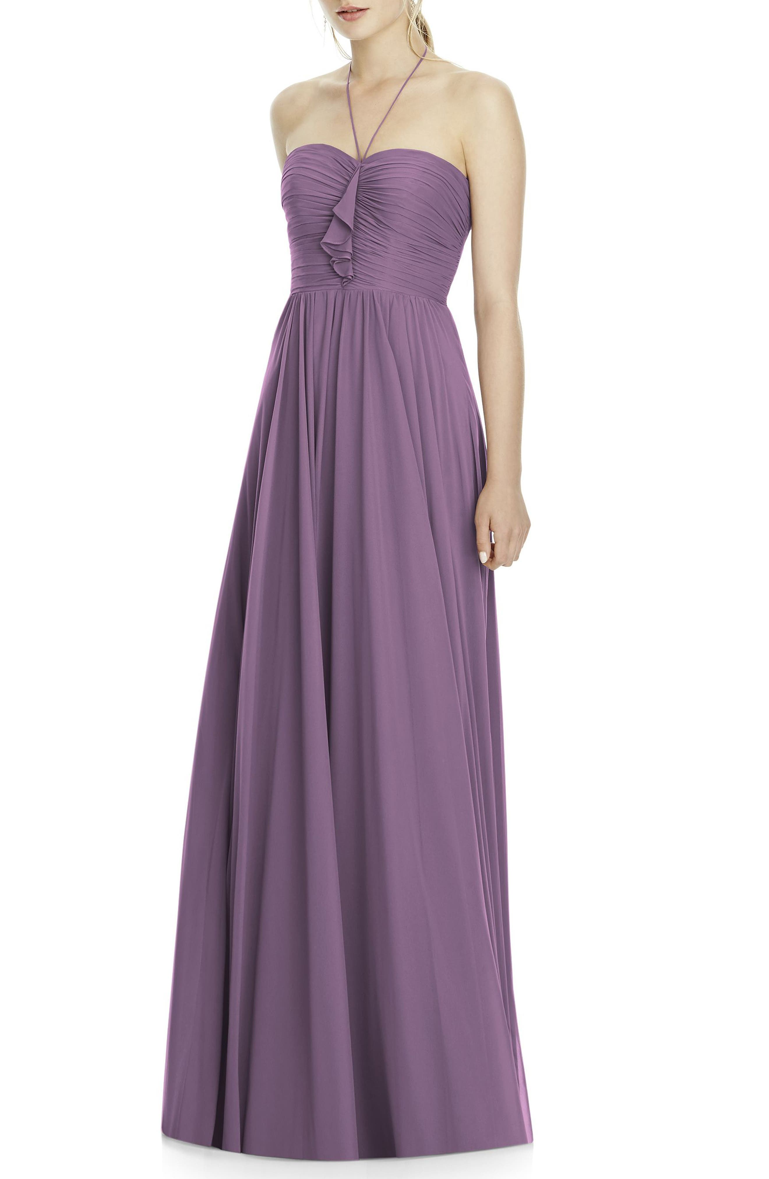 Chiffon A-Line Gown,                         Main,                         color, 514