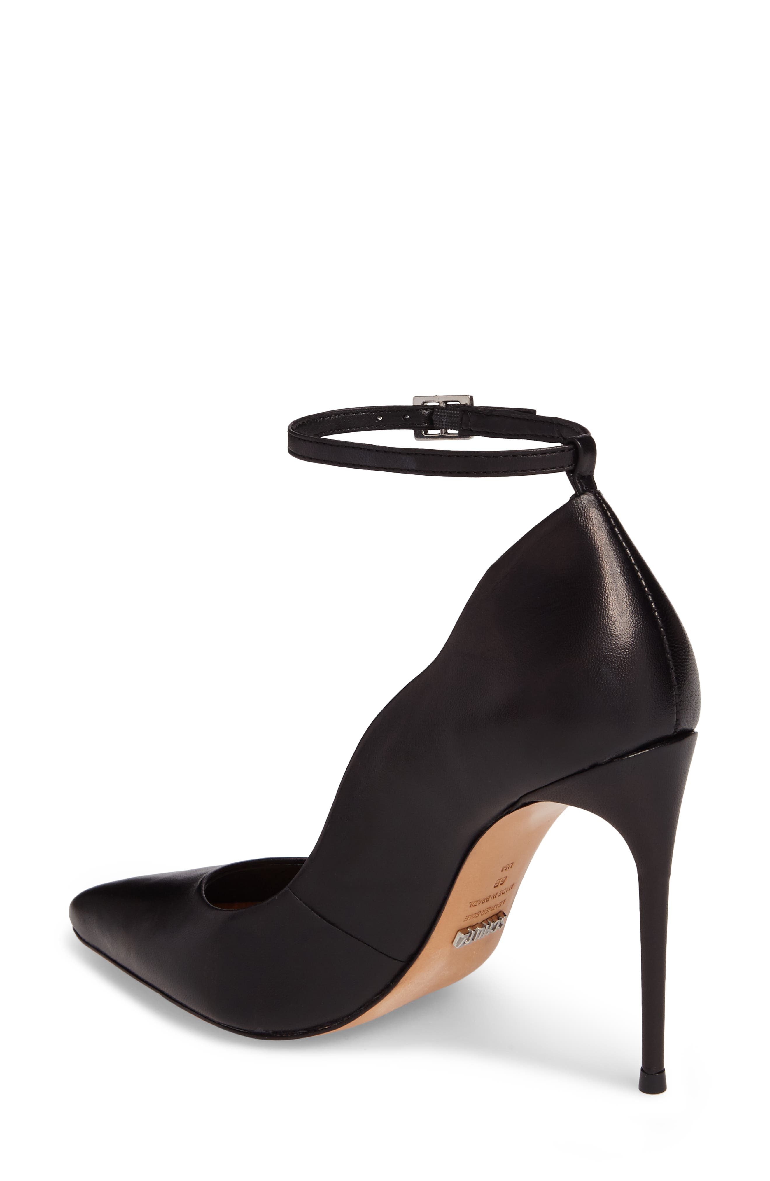 Thaynara Ankle Strap Pump,                             Alternate thumbnail 2, color,                             001