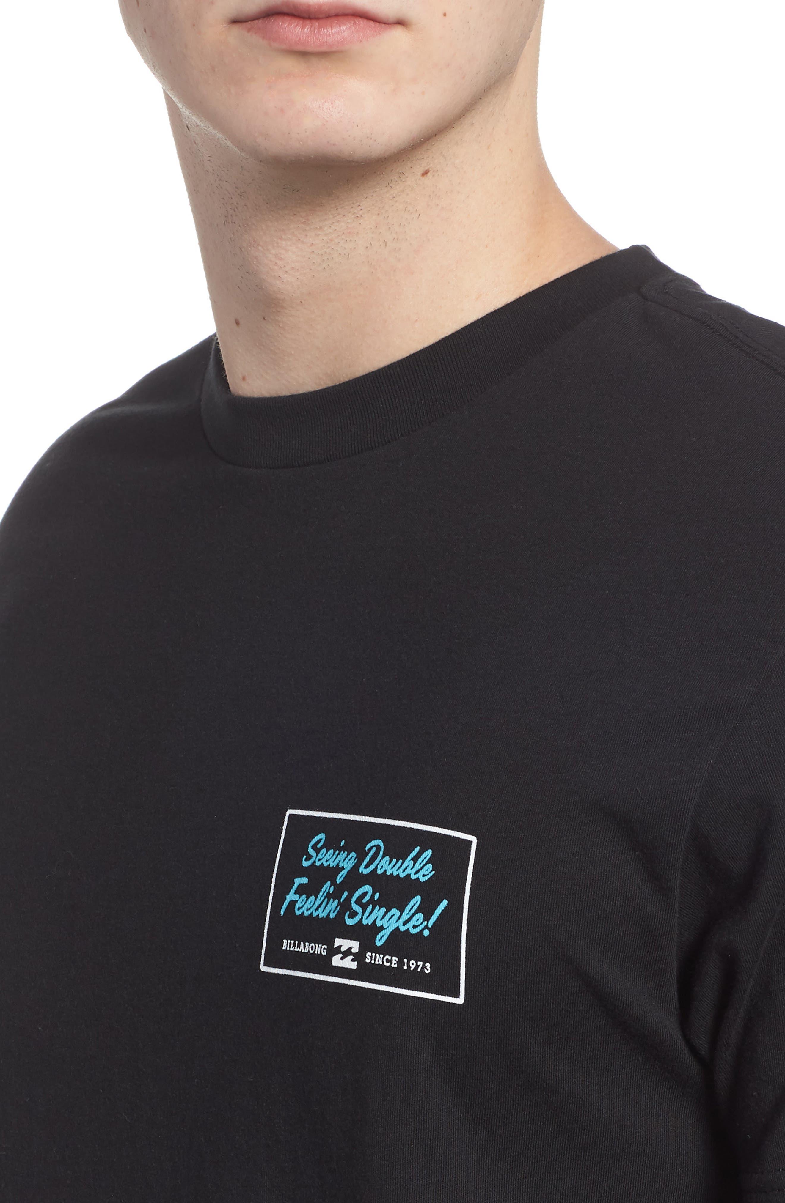 Feeling Single Graphic T-Shirt,                             Alternate thumbnail 4, color,                             001