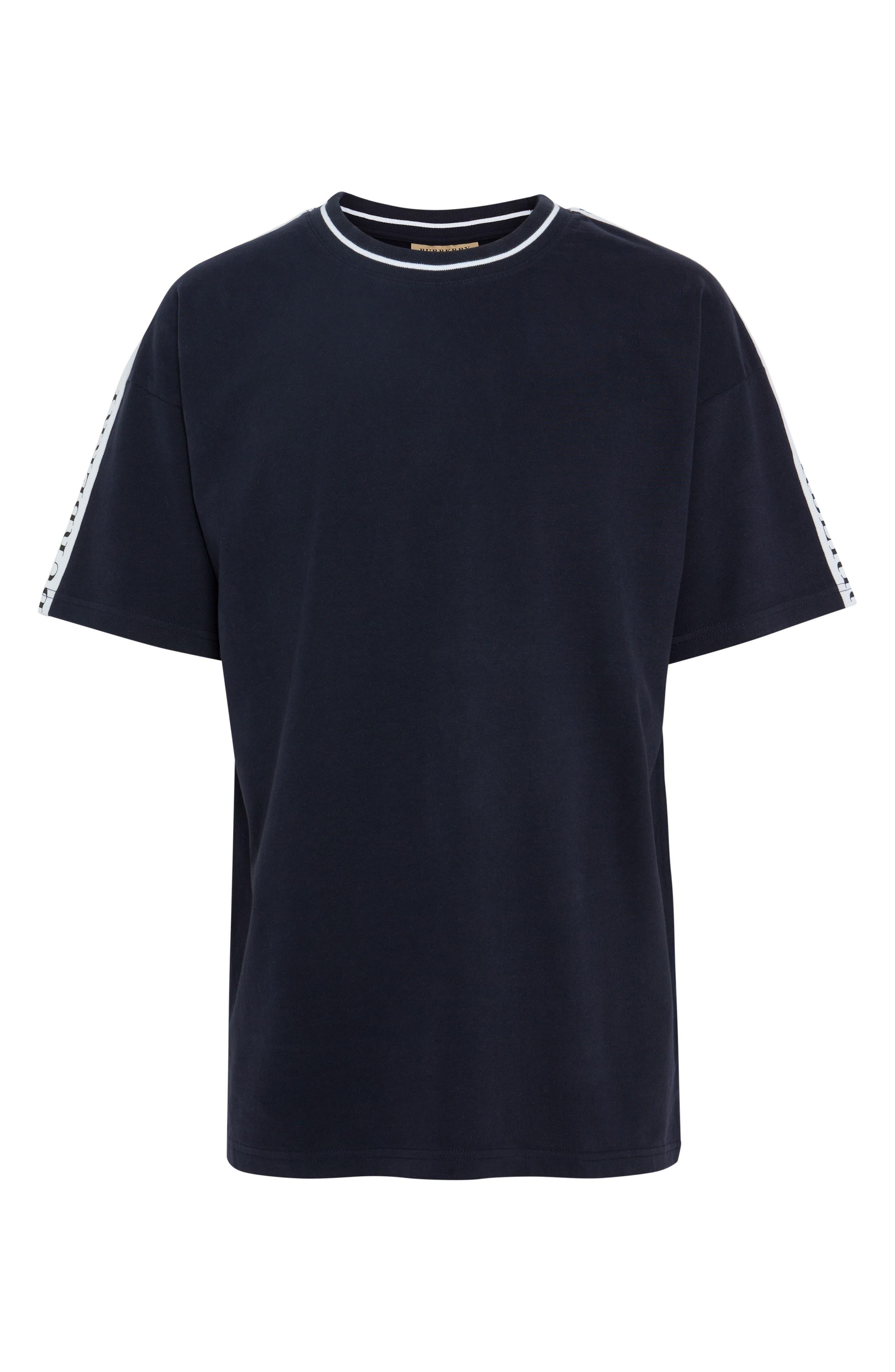 Roedon Tape T-Shirt,                             Alternate thumbnail 4, color,                             DARK NAVY