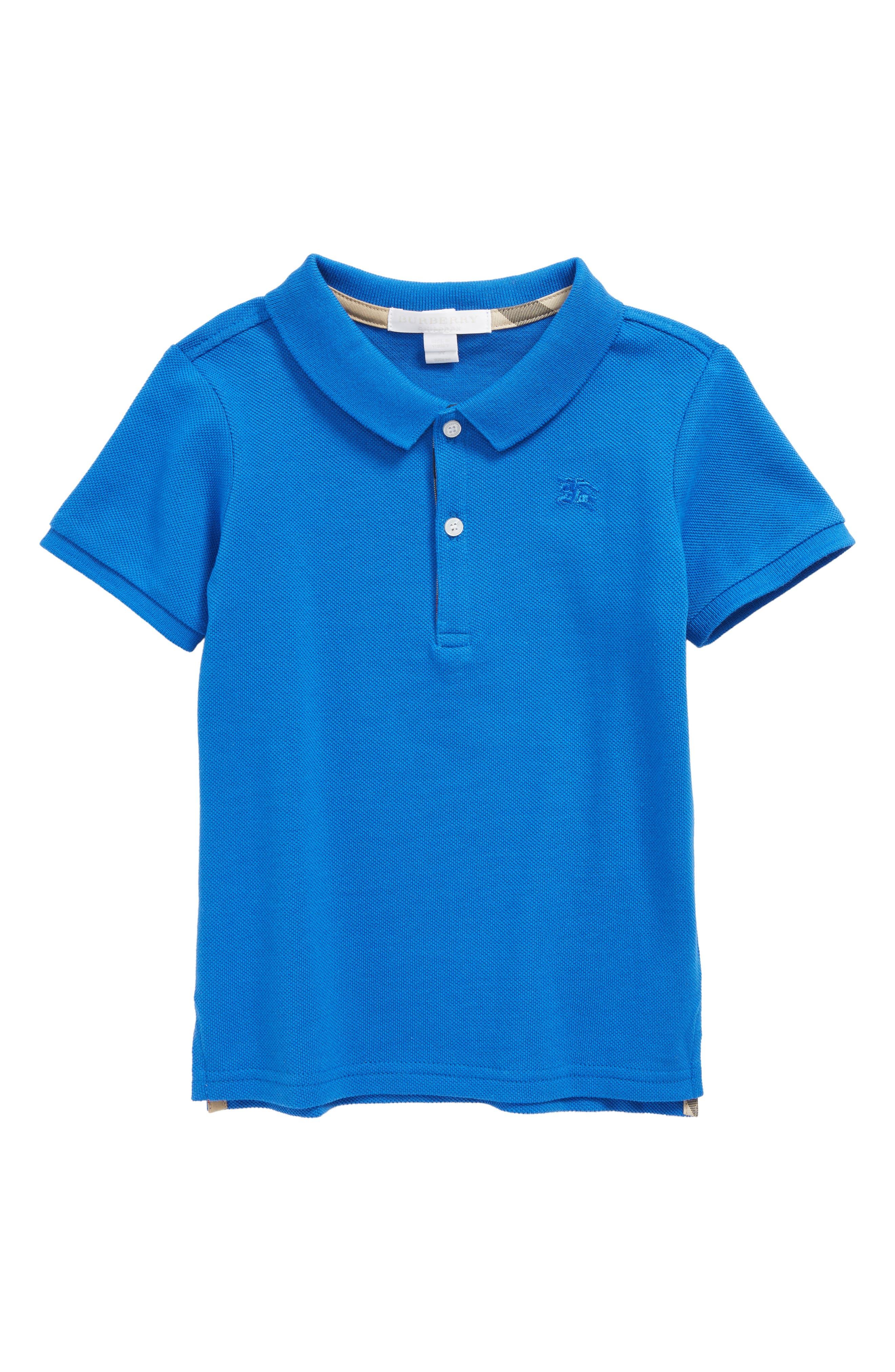 Mini Cotton Piqué Polo,                         Main,                         color, 432