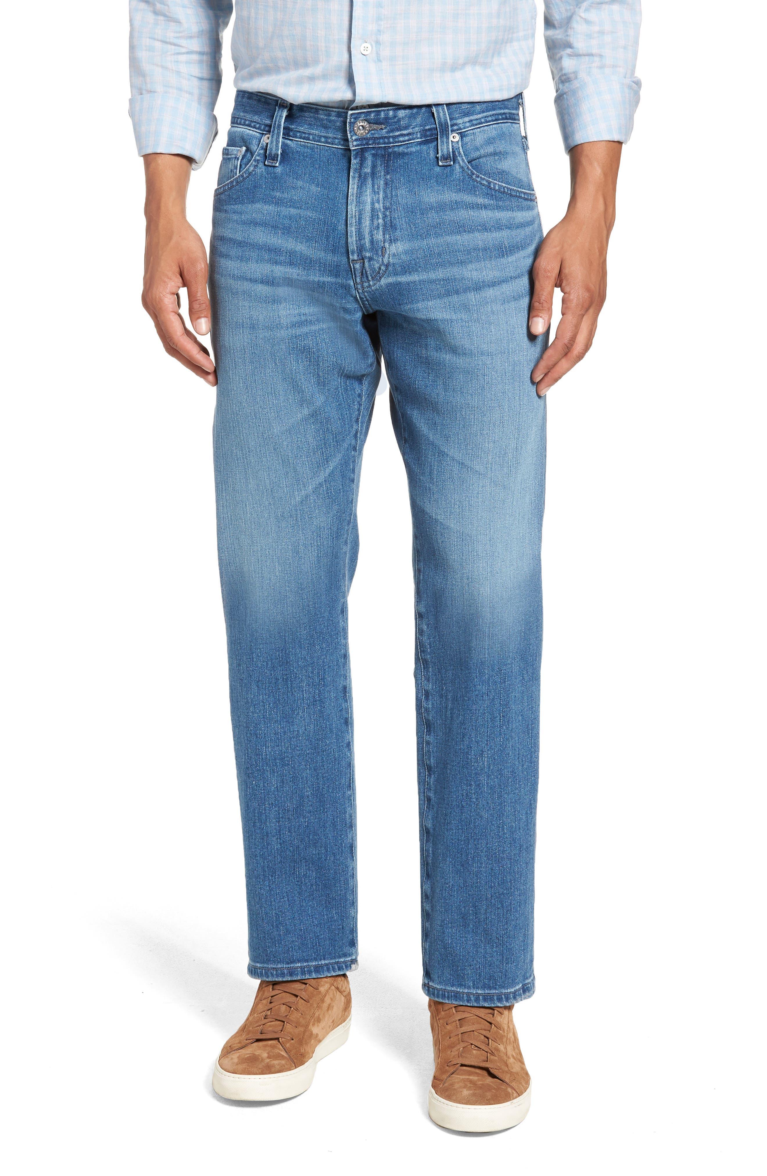 Graduate Slim Straight Leg Jeans,                             Main thumbnail 1, color,                             DEMOLITION