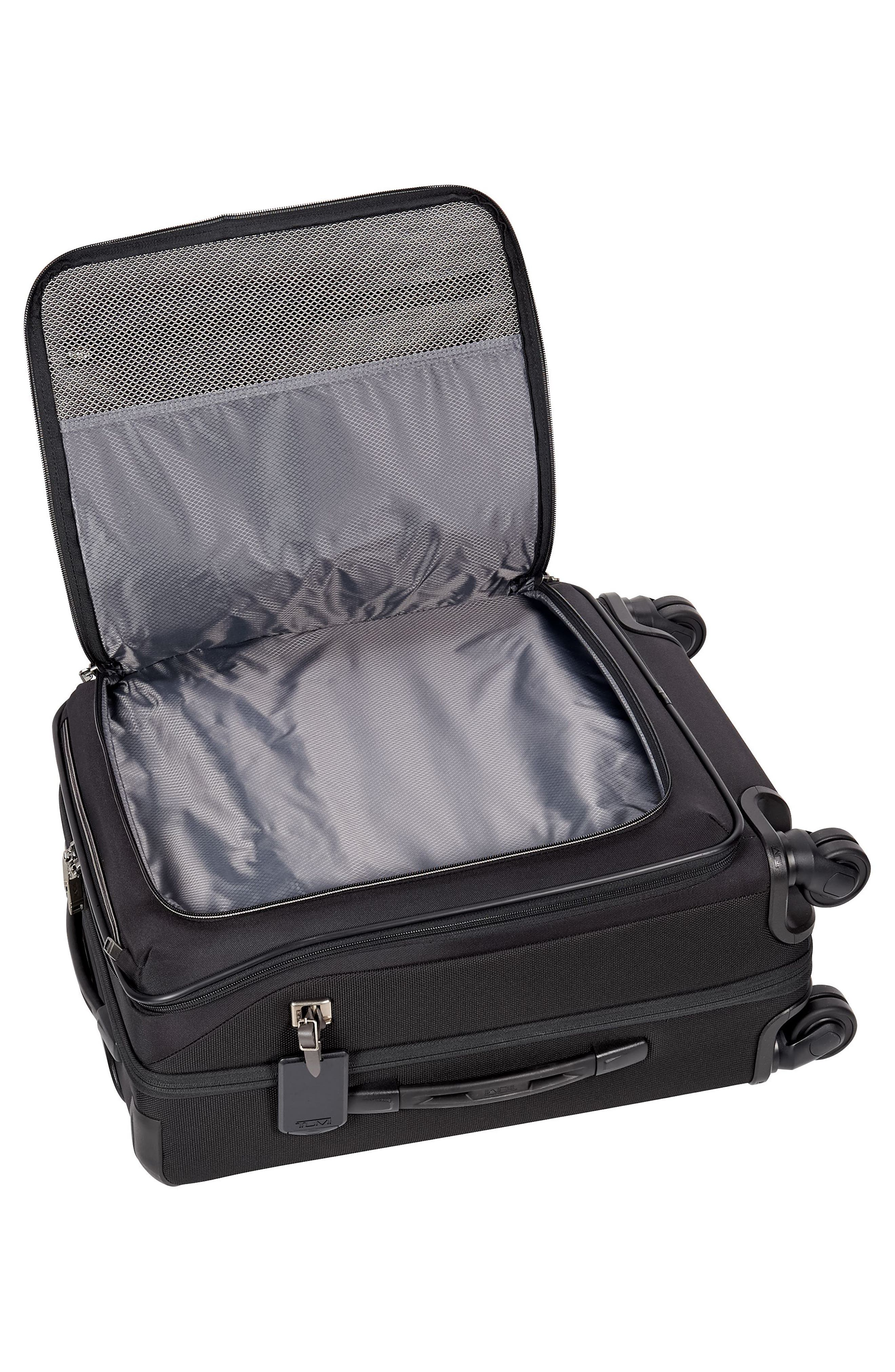 Merge - 22-Inch Continental Expandable Rolling Carry-On,                             Alternate thumbnail 6, color,                             BLACK CONTRAST