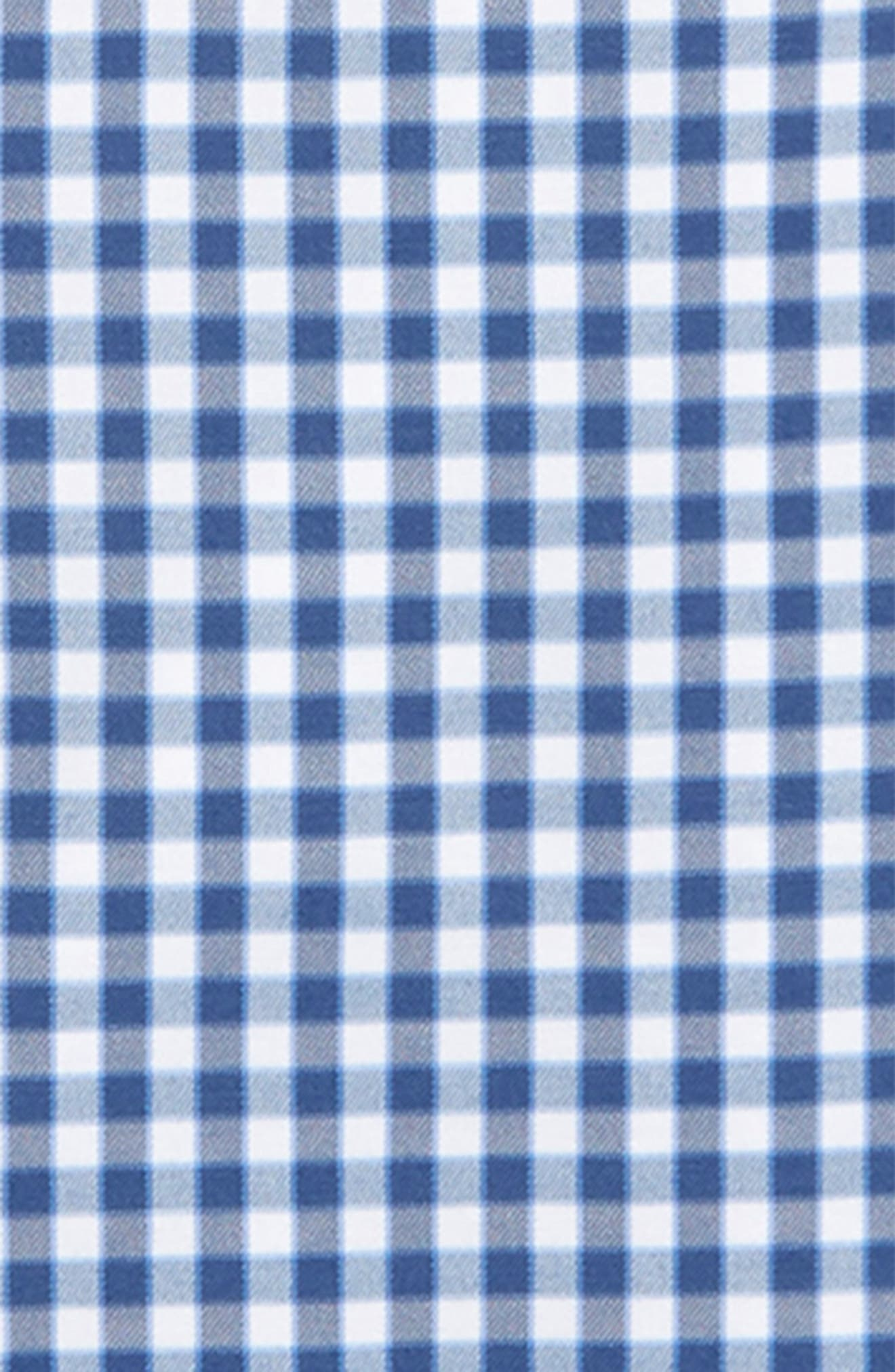 Gingham Whale Button Down Shirt,                             Alternate thumbnail 2, color,                             MOONSHINE