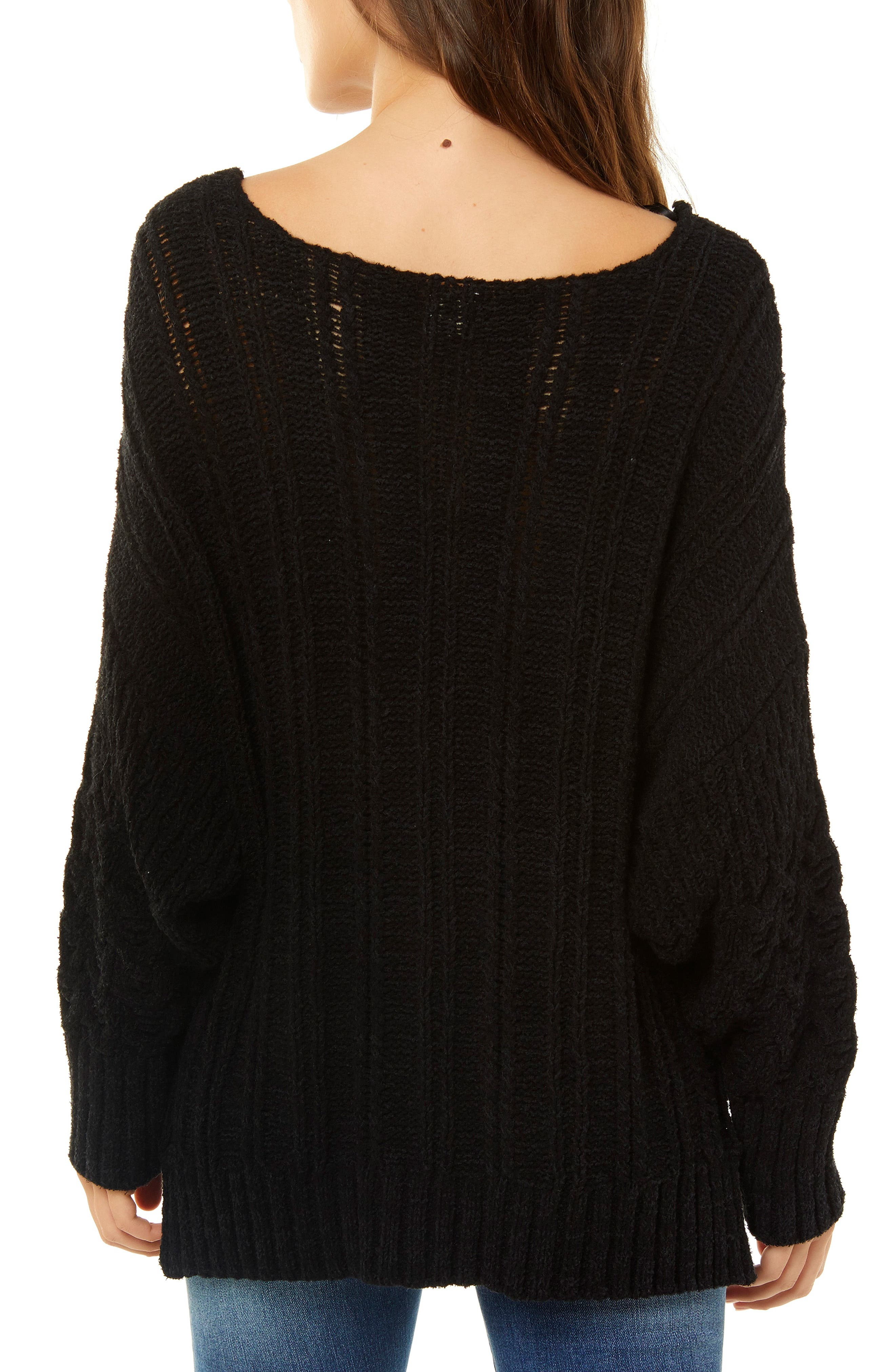 Knit Pullover,                             Alternate thumbnail 2, color,                             001