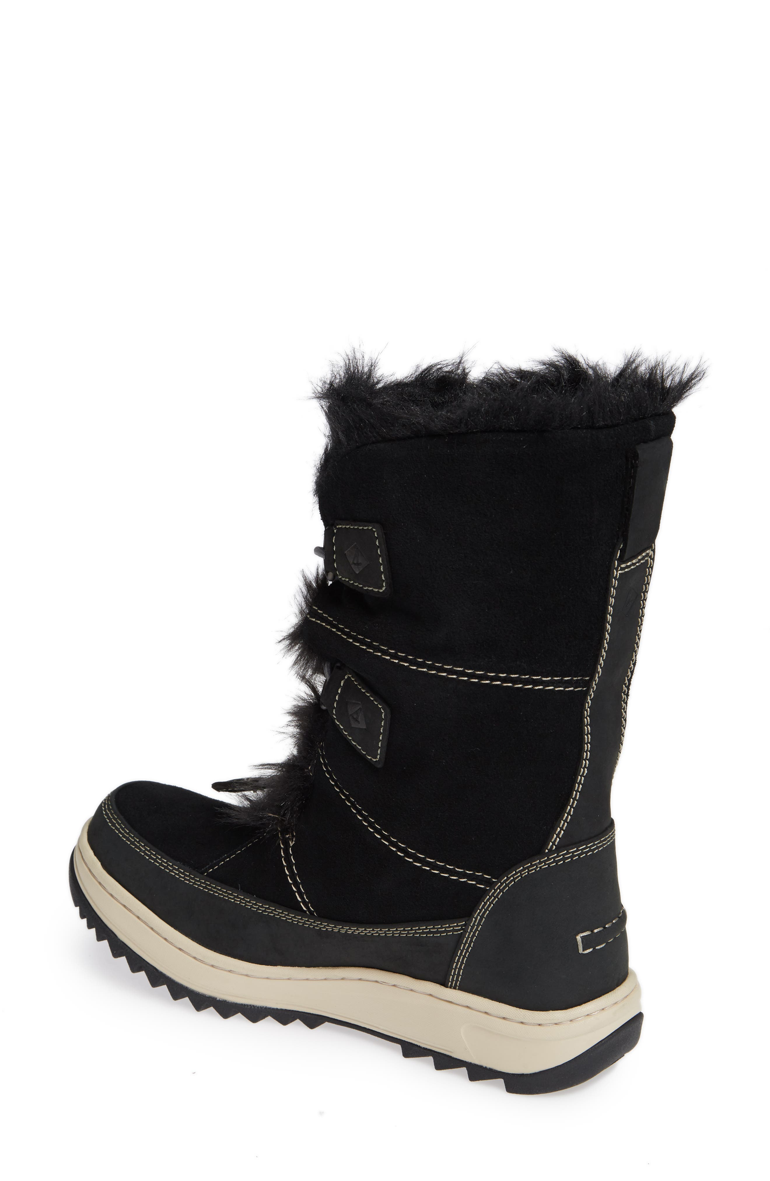 SPERRY,                             Powder Valley Vibram<sup>®</sup> Arctic Grip Waterproof Boot,                             Alternate thumbnail 2, color,                             001