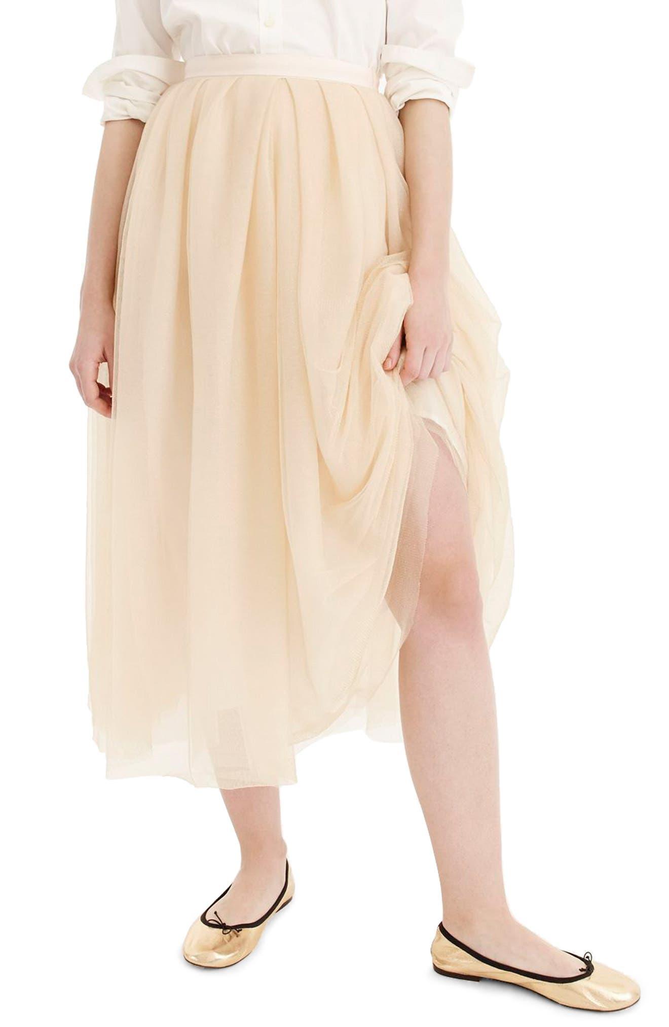 Tulle Ball Skirt, Main, color, 700