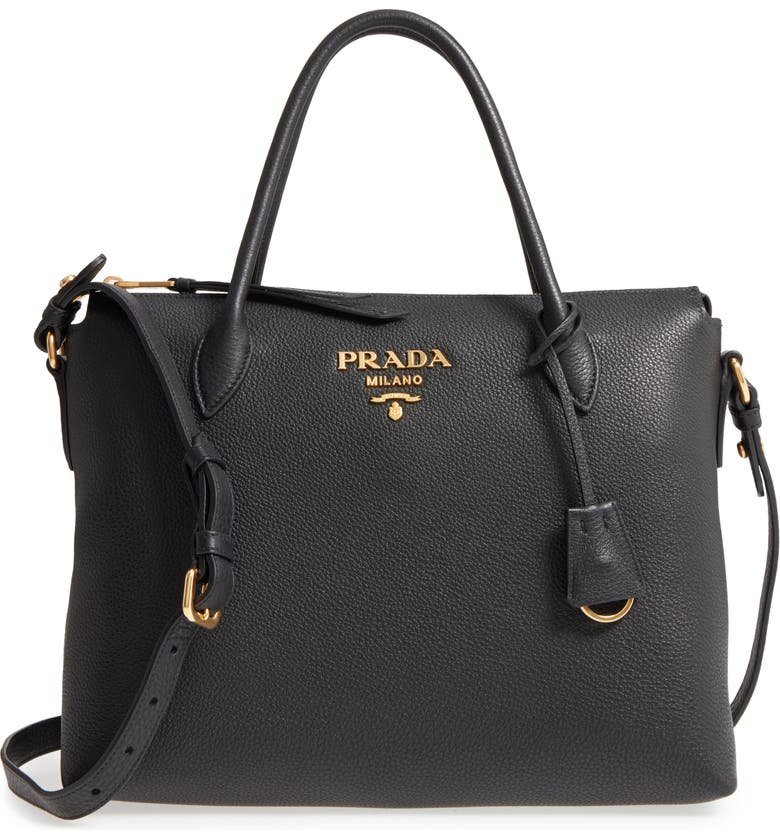 Prada Daino Leather Shoulder Bag  30b94436f8ae3
