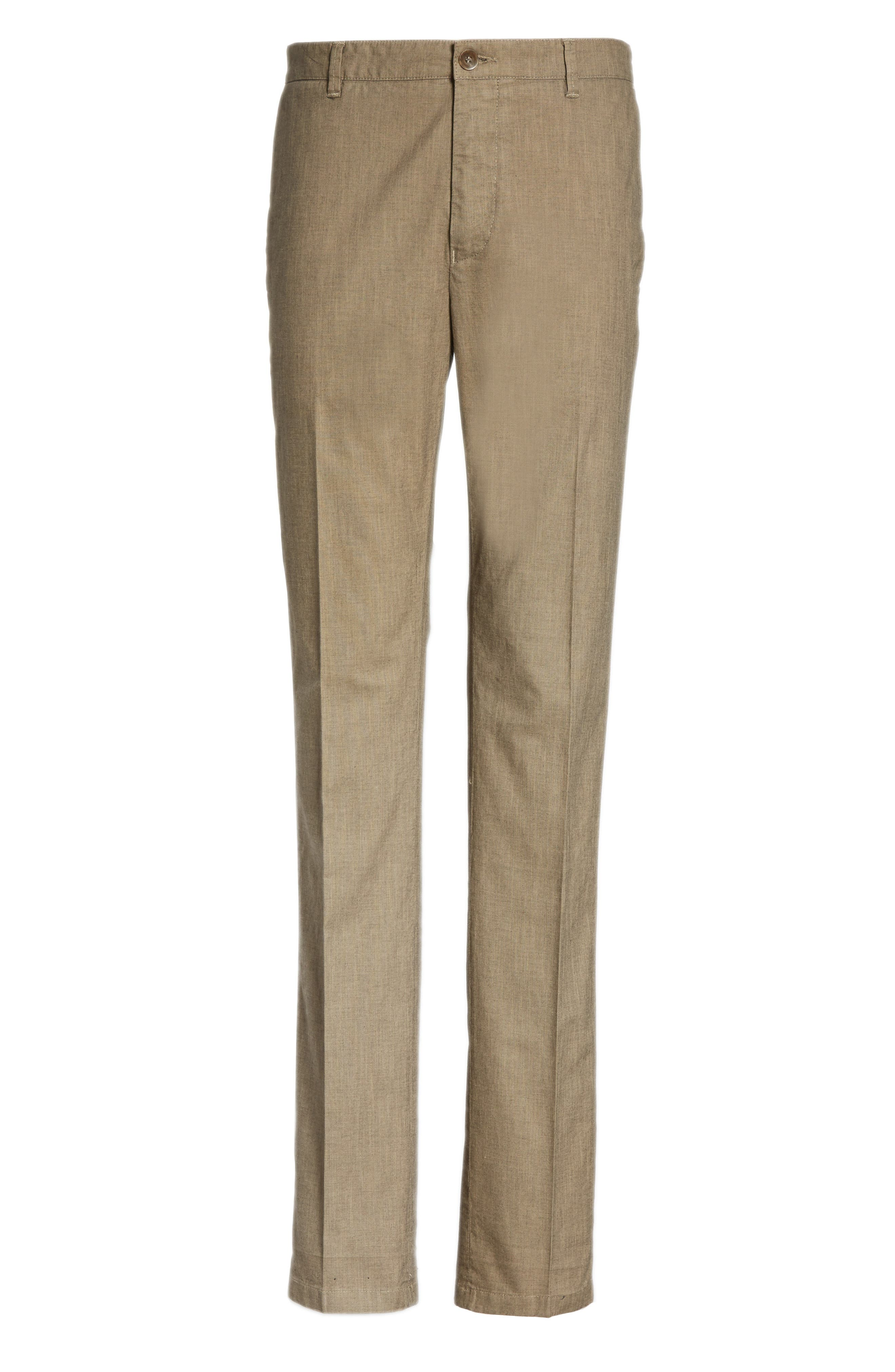 French Pocket Stretch Straight Leg Pants,                             Alternate thumbnail 6, color,                             251