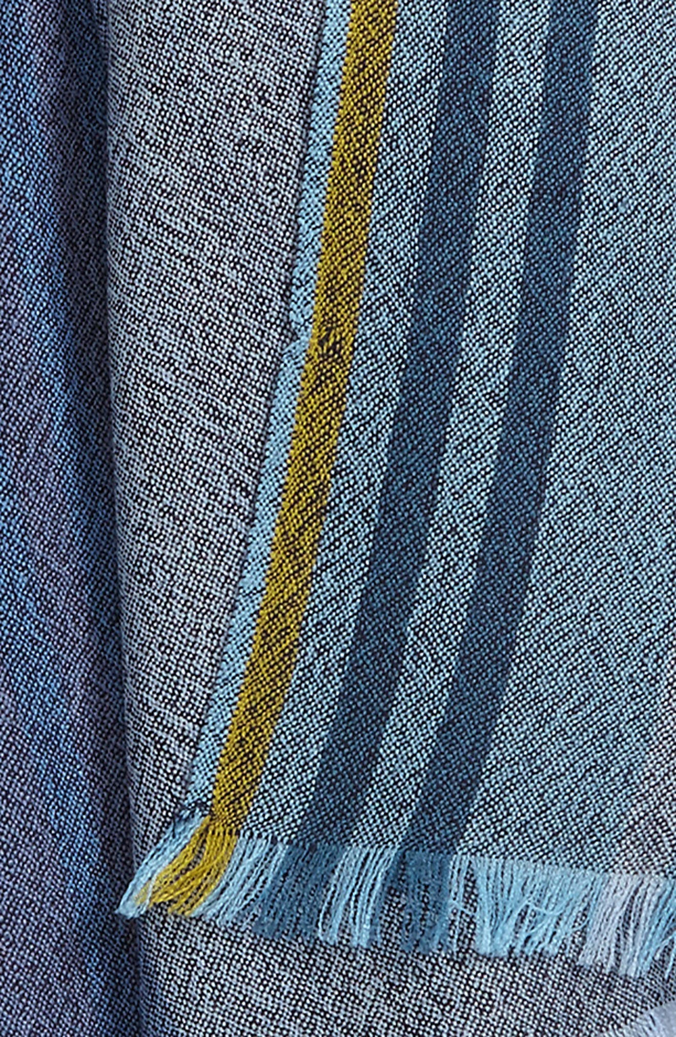 Stripe Wool Scarf,                             Alternate thumbnail 3, color,                             415