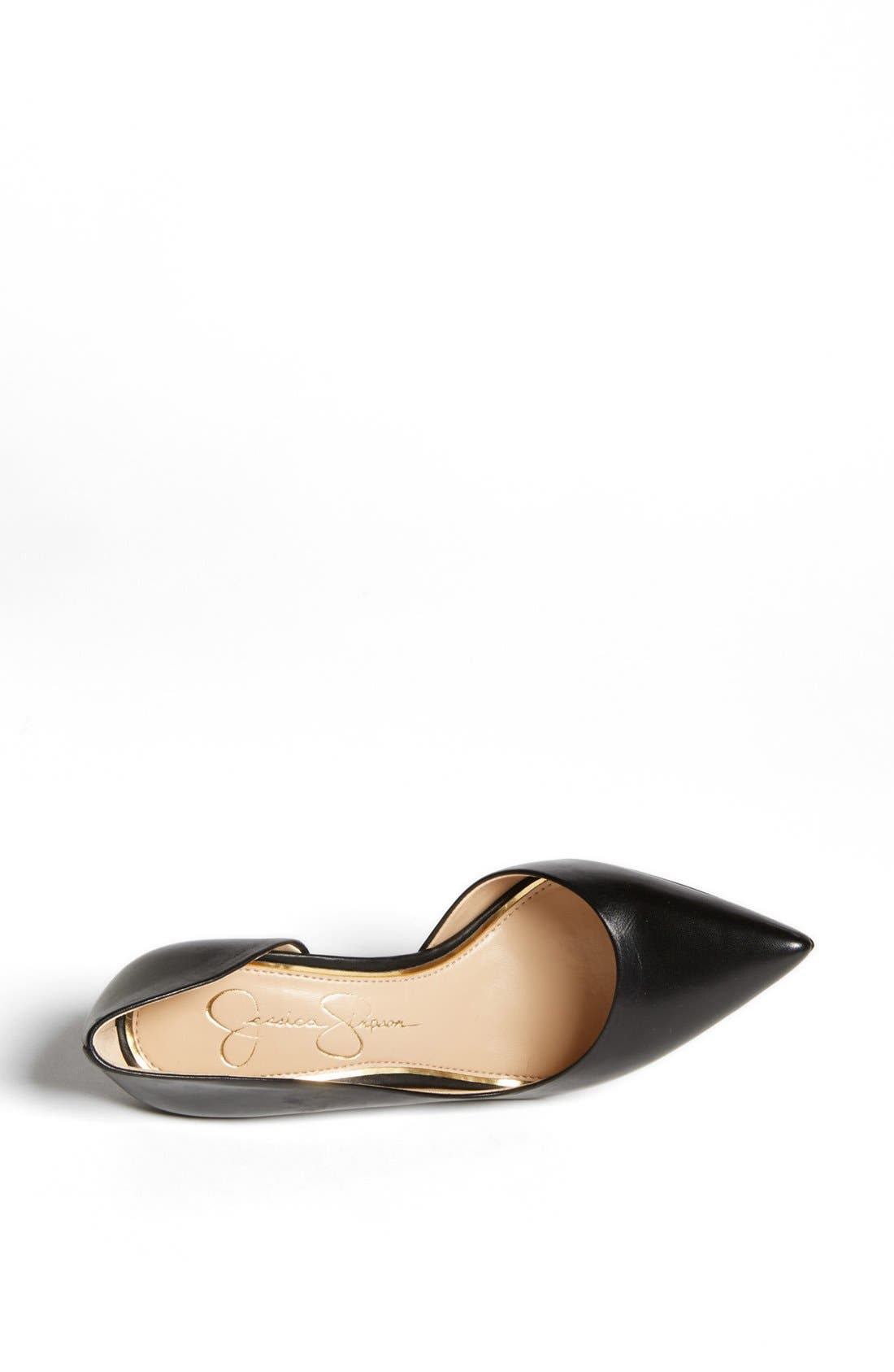 JESSICA SIMPSON,                             'Claudette' Half d'Orsay Pump,                             Alternate thumbnail 6, color,                             001