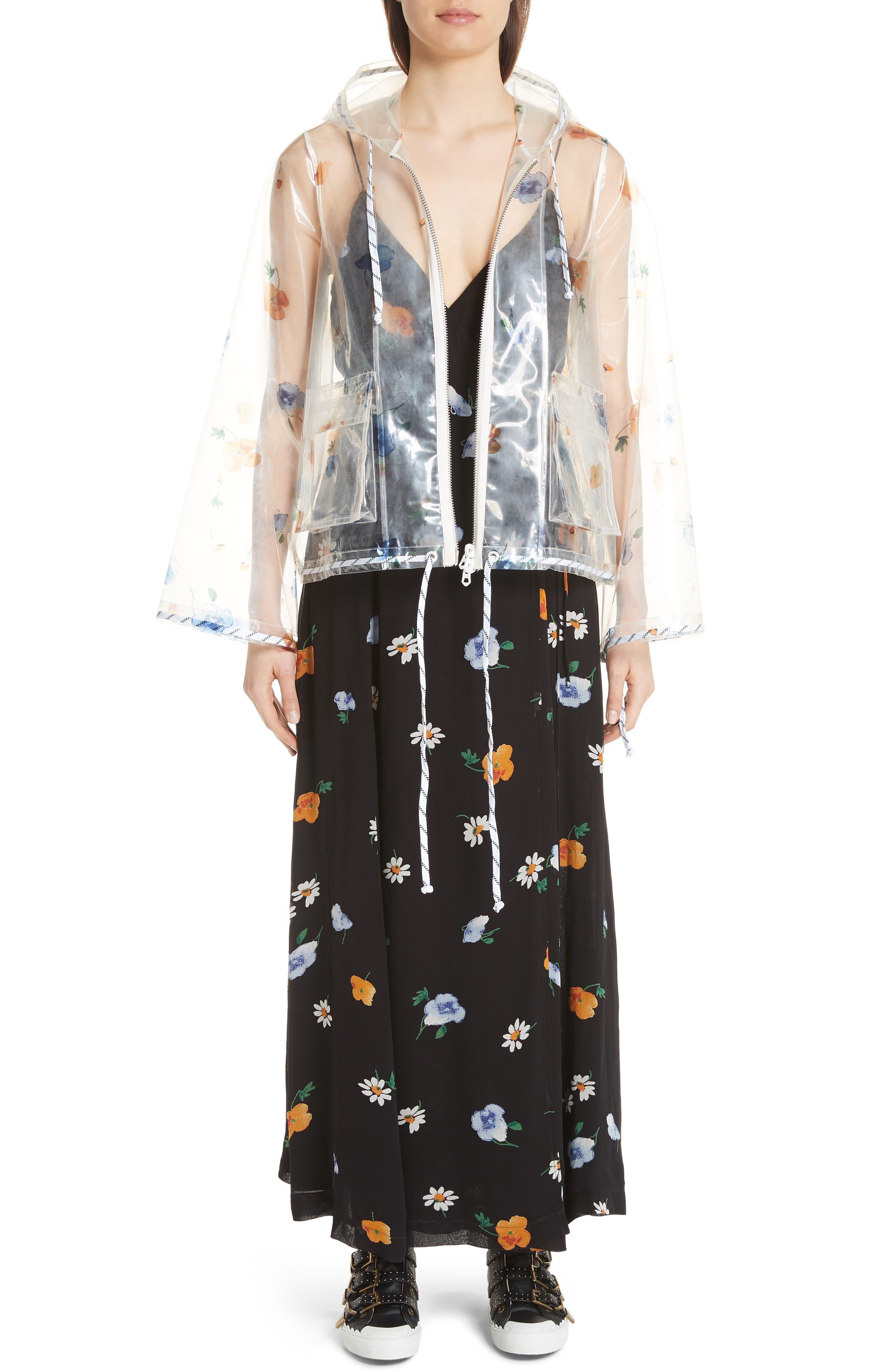 Dainty Georgette Strap Dress,                             Alternate thumbnail 8, color,                             BLACK